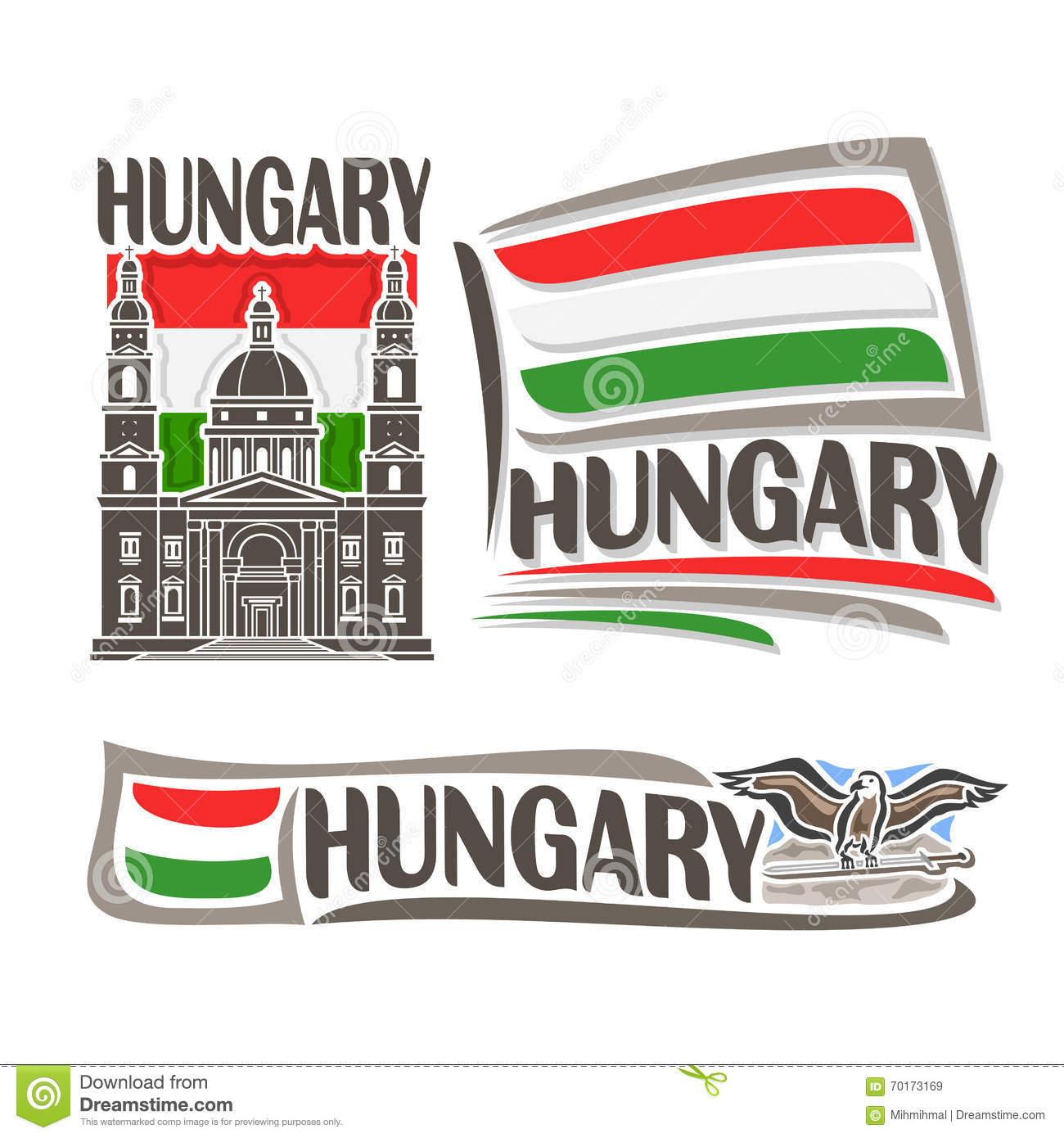 vector logo for hungary stock vector image 70173169