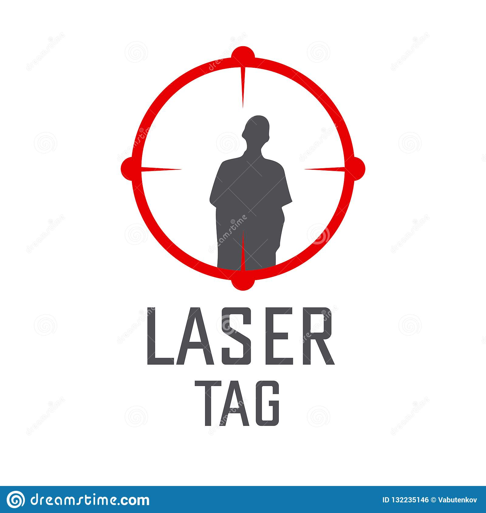 Vector Logo For Laser Tag And Airsoft Stock Vector - Illustration of