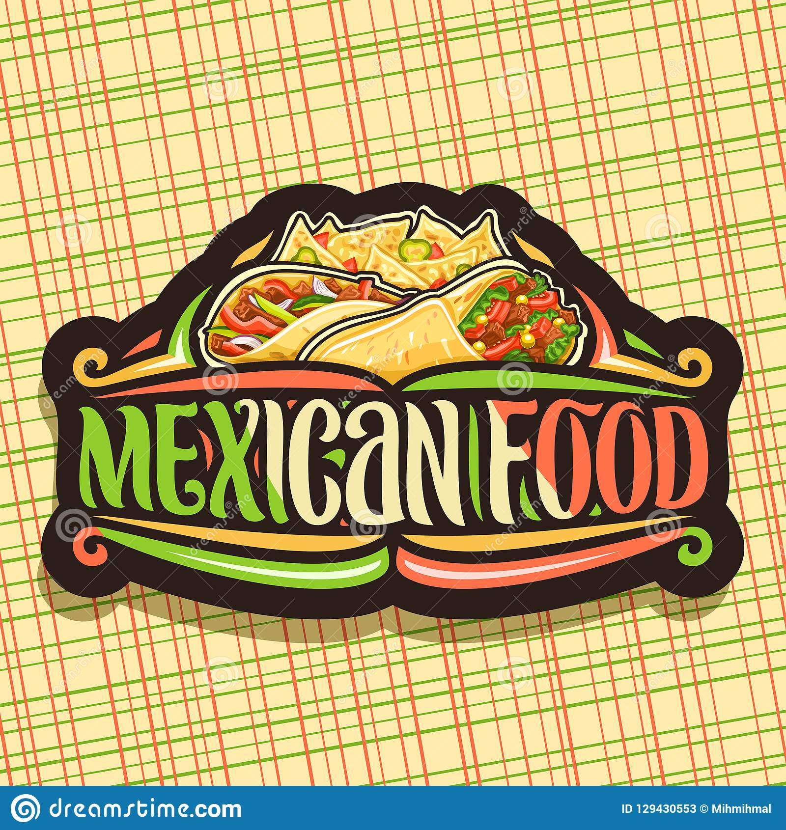 Vector Logo For Mexican Food Stock Vector Illustration Of