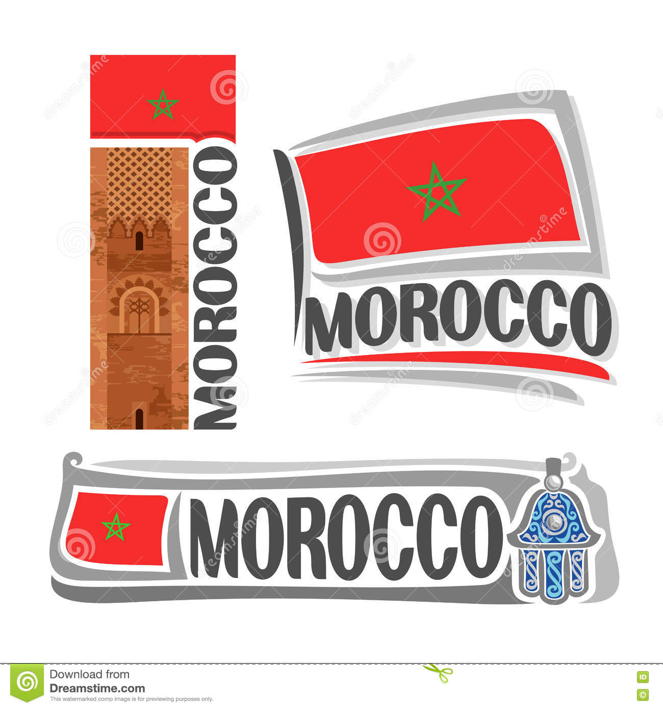 Vector Logo Morocco Stock Vector Illustration Of Abstract 81173194