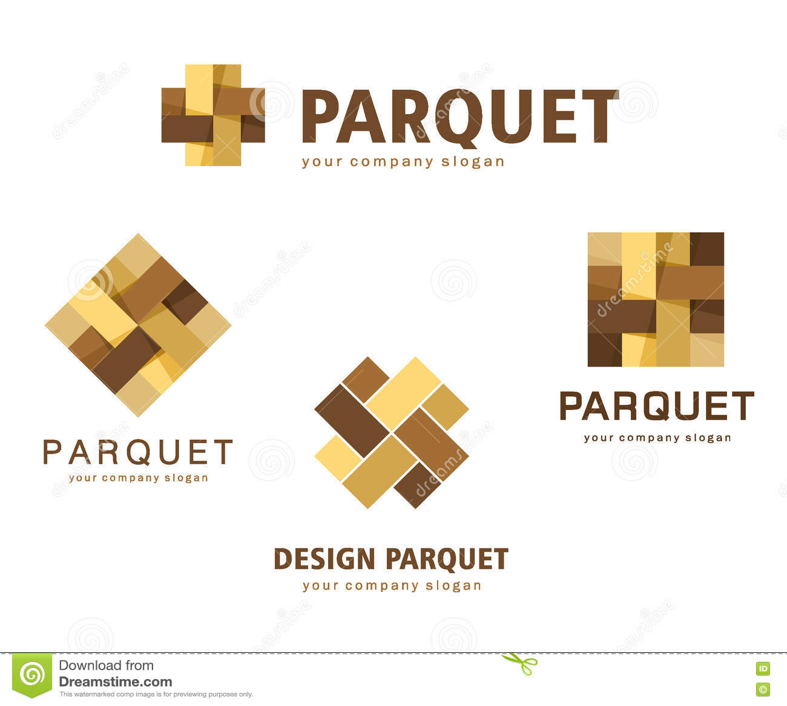 Vector Logo Parquet, Laminate, Flooring, Tiles Stock