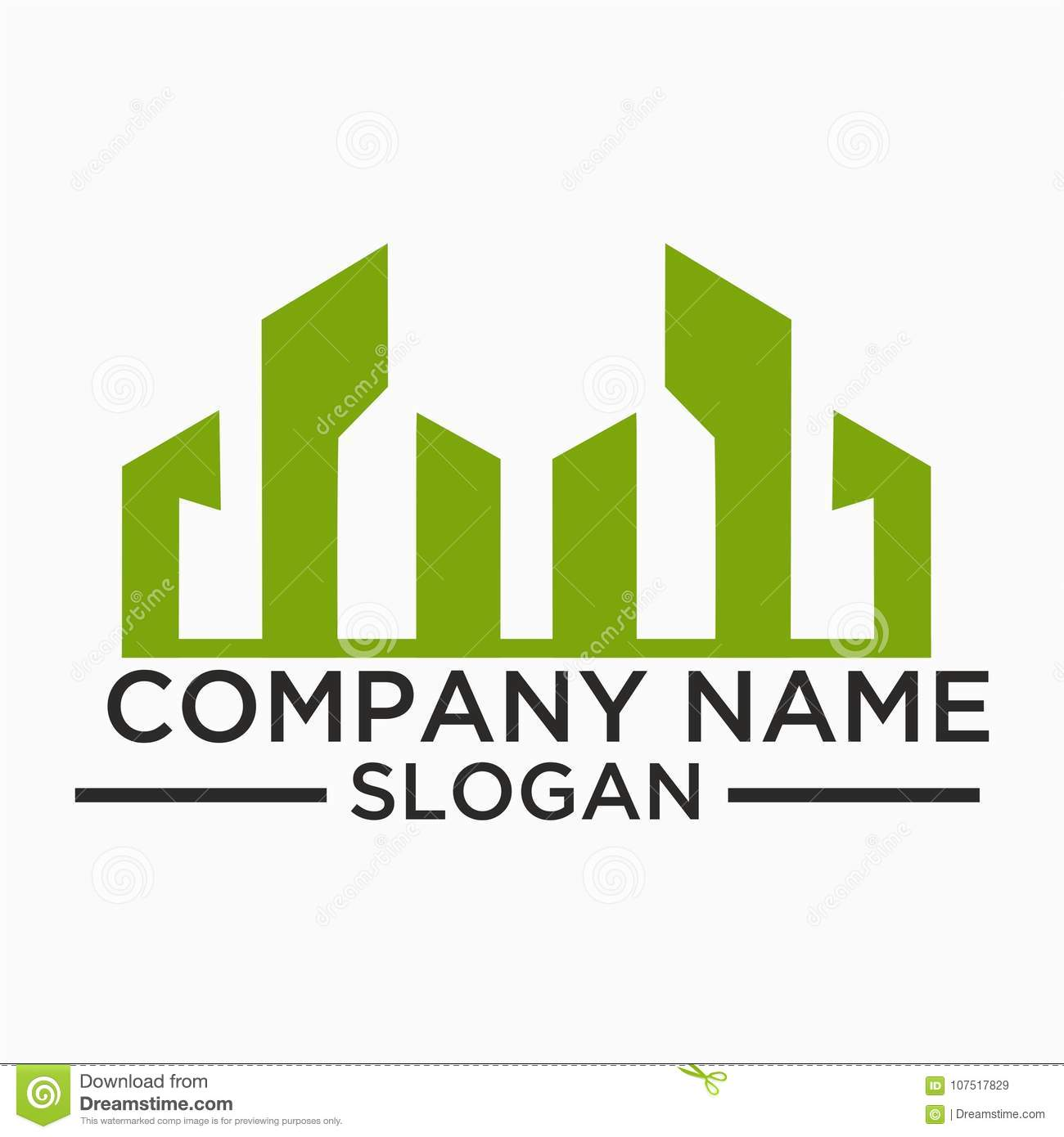 building and construction logo vector design real estate logo