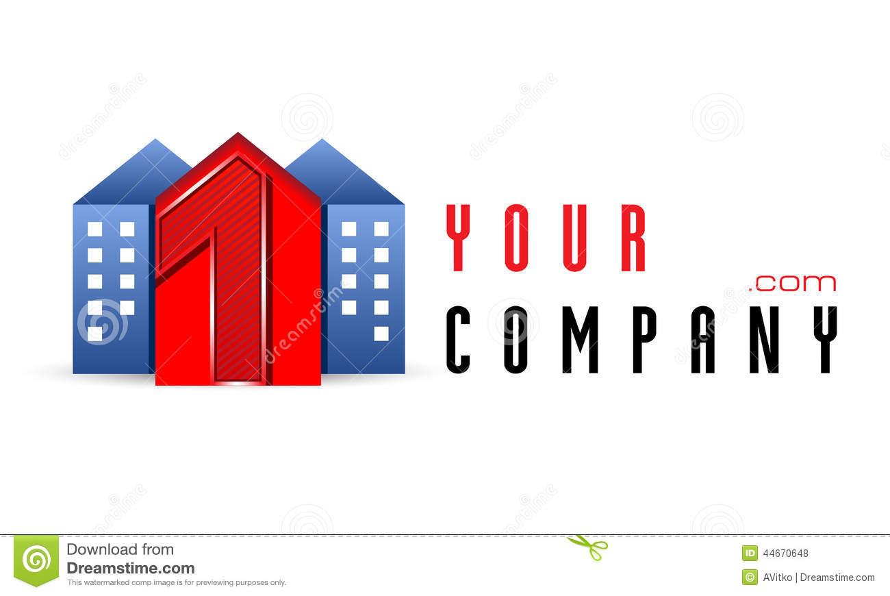Vector logo template construction realt realtor rent for Companies housse