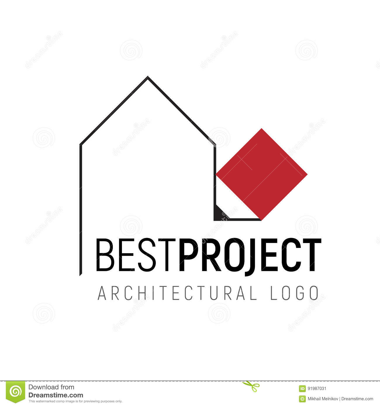 Vector logo template for architectural stock vector for Architectural design drawing company