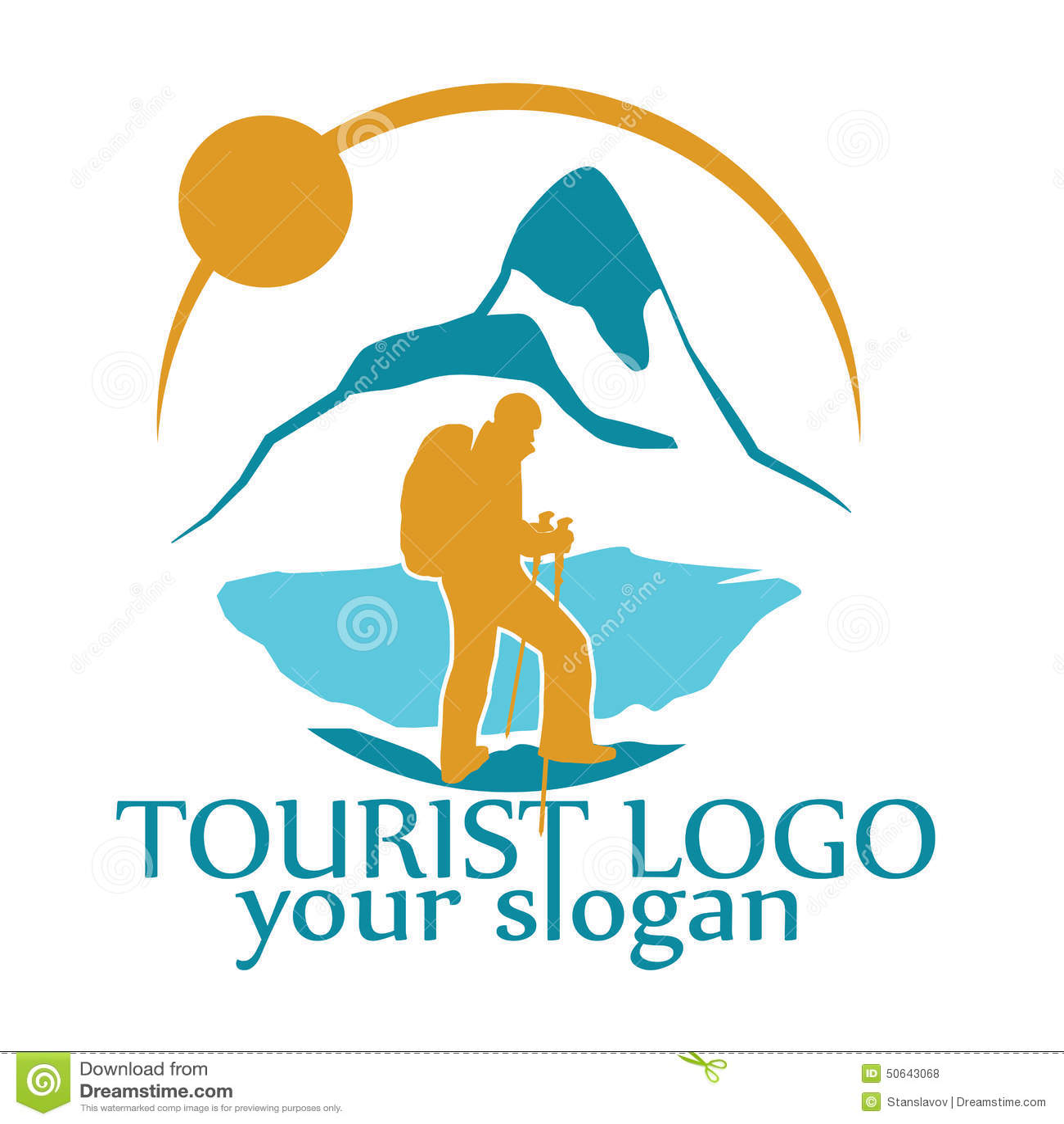 Vector logo for tourism