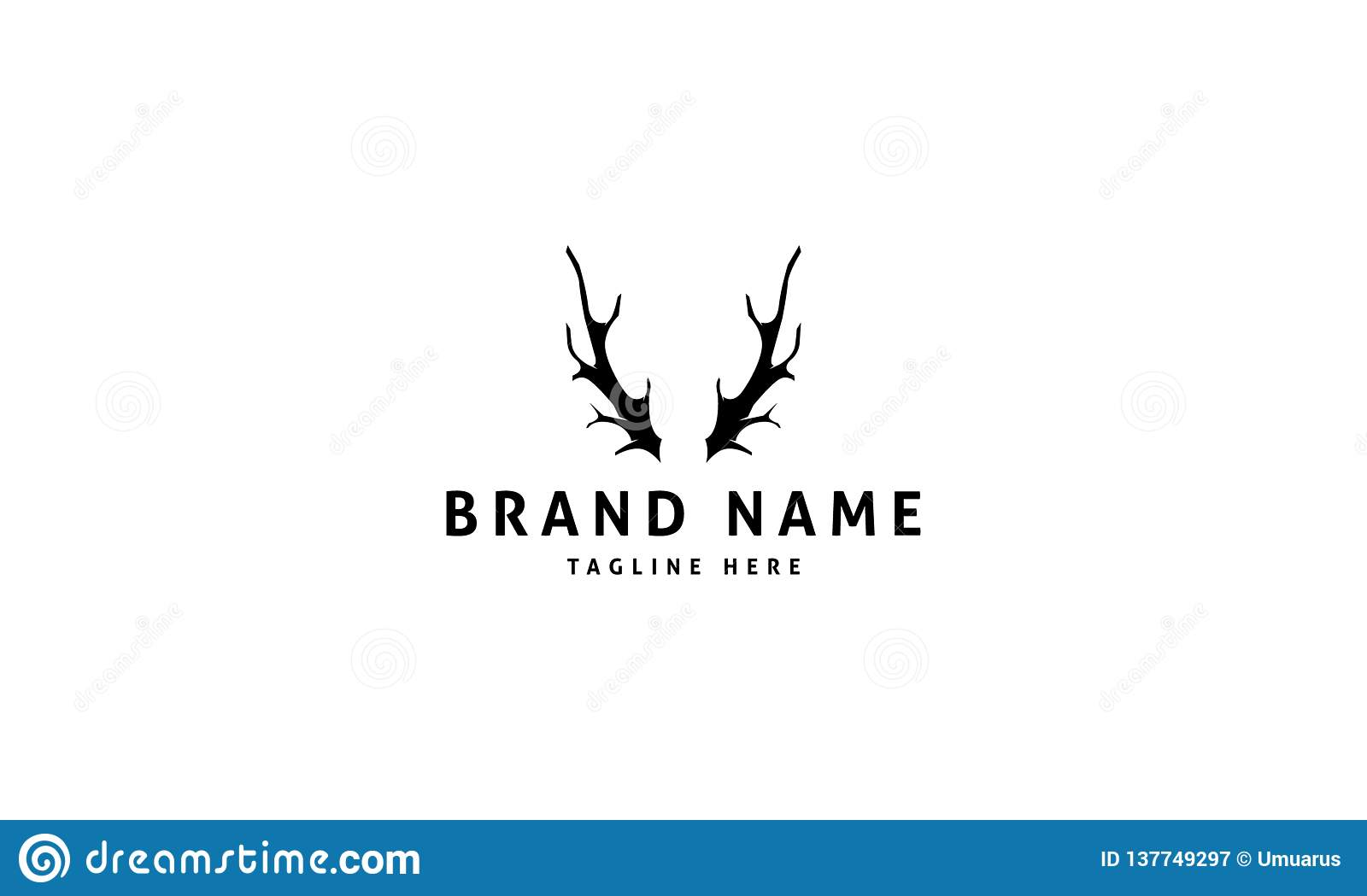 Vector logo which depicts a deer horns.