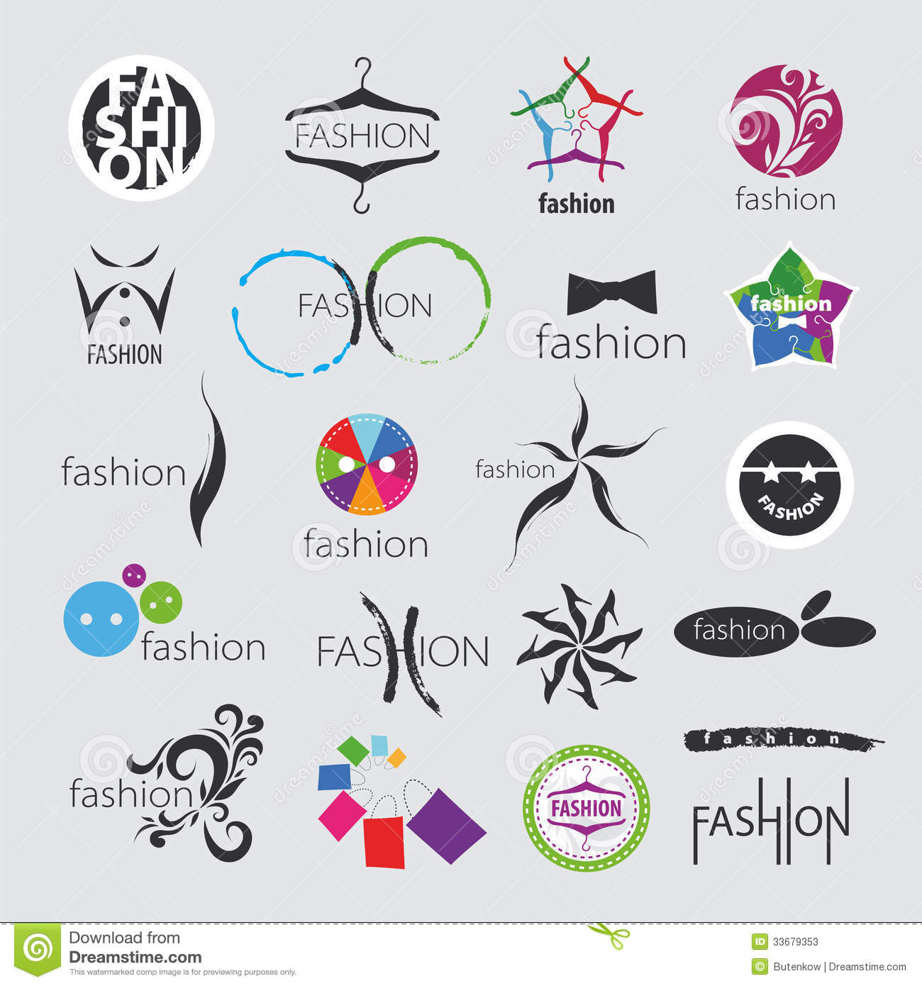 Vector Logos For Clothing And Fashion Accessories Stock Photos ...