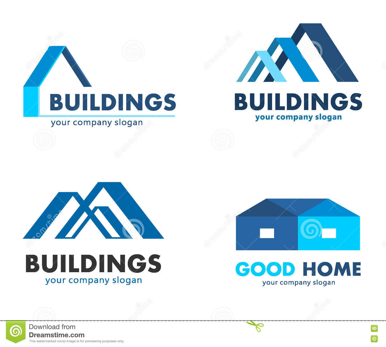 Vector logos for construction and building companies stock for Companies that build homes