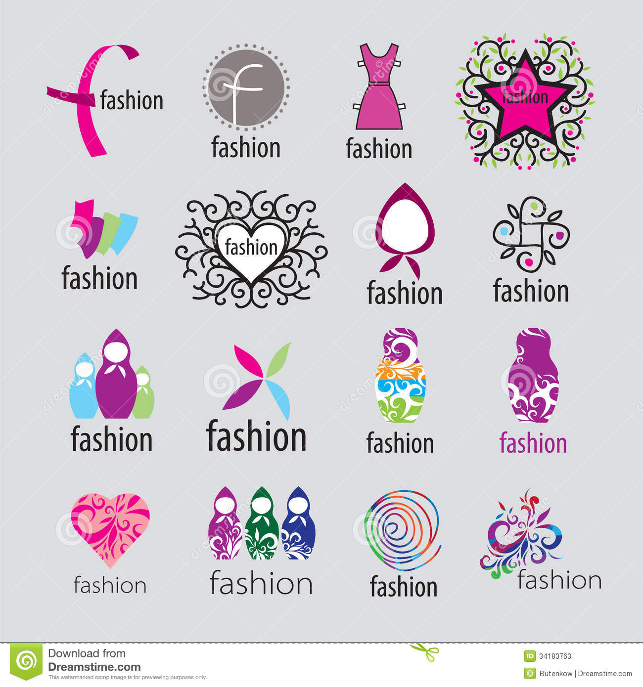 Vector Logos Fashion Accessories And Clothing Stock Vector ...