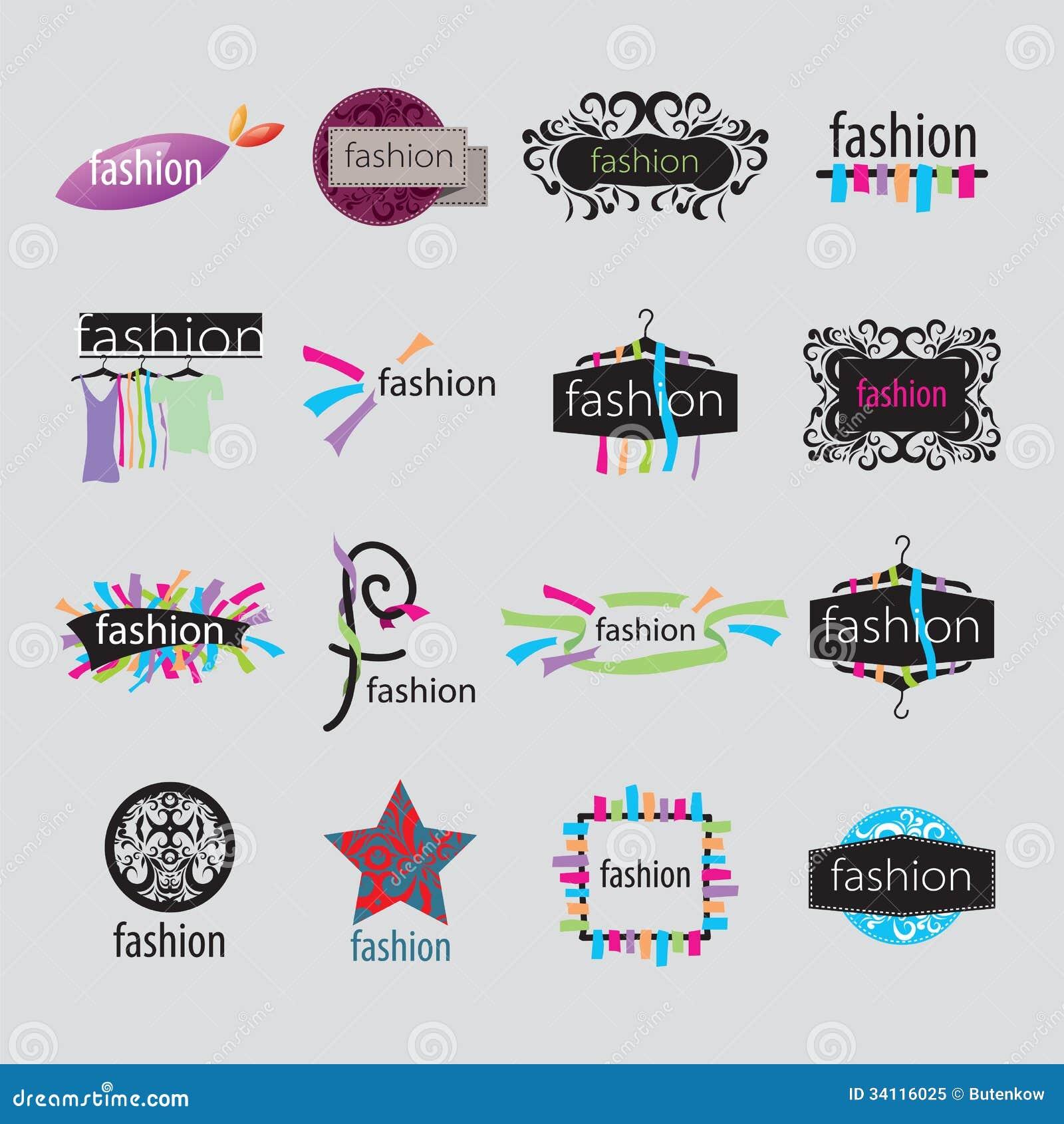 Vector Logos Fashion Accessories Stock Vector - Image ...