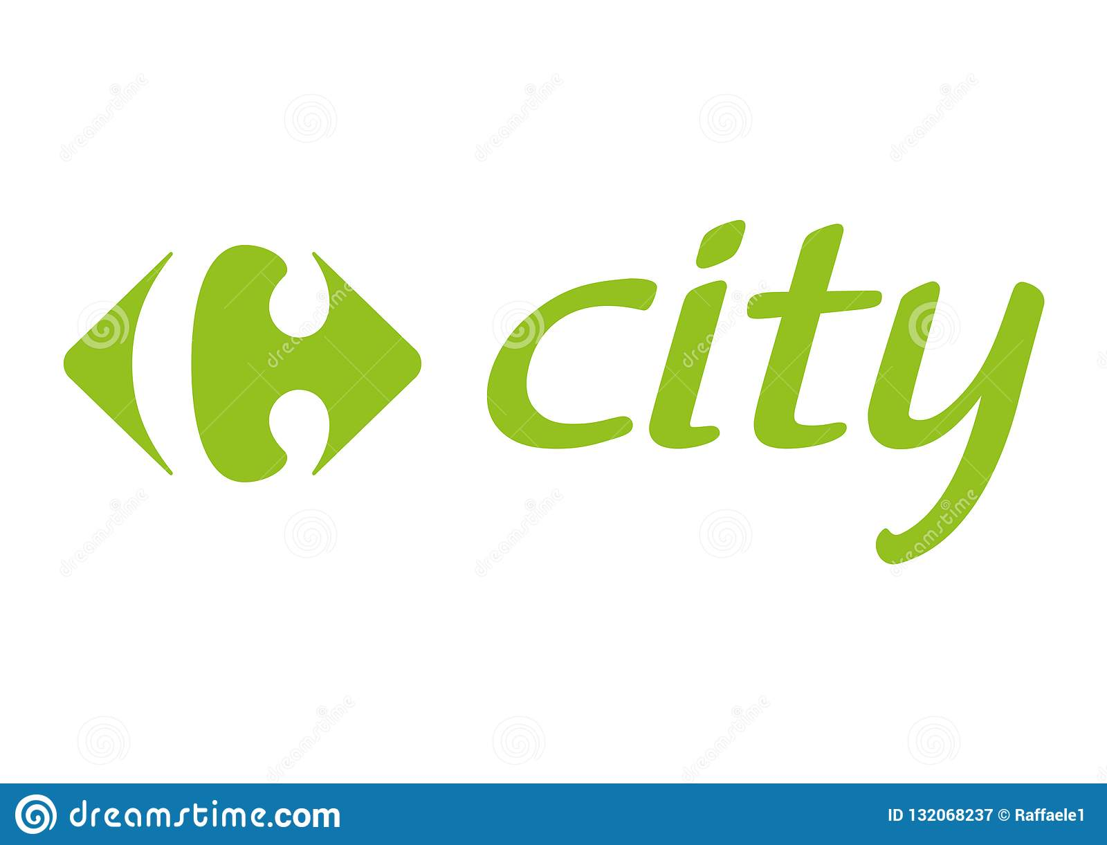 Carrefour City Logo Editorial Photography Illustration Of Market