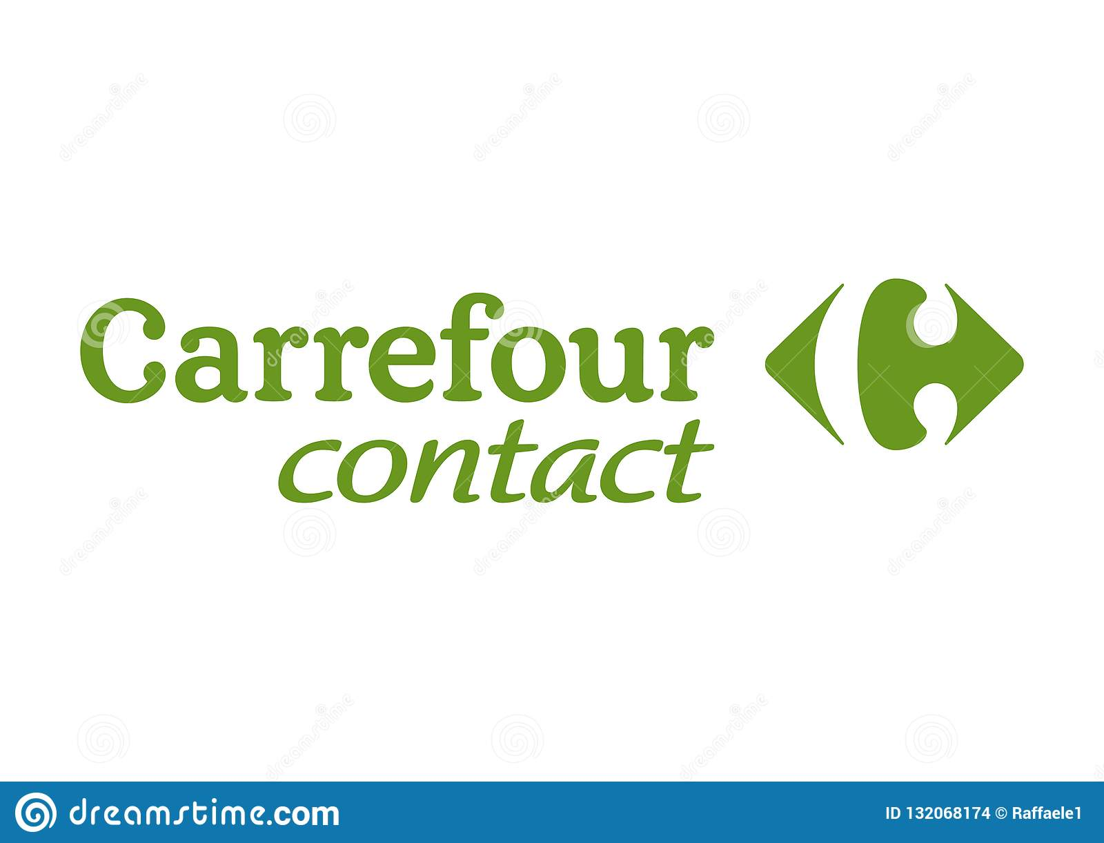 Carrefour Contact Logo Editorial Stock Image Illustration Of Logos