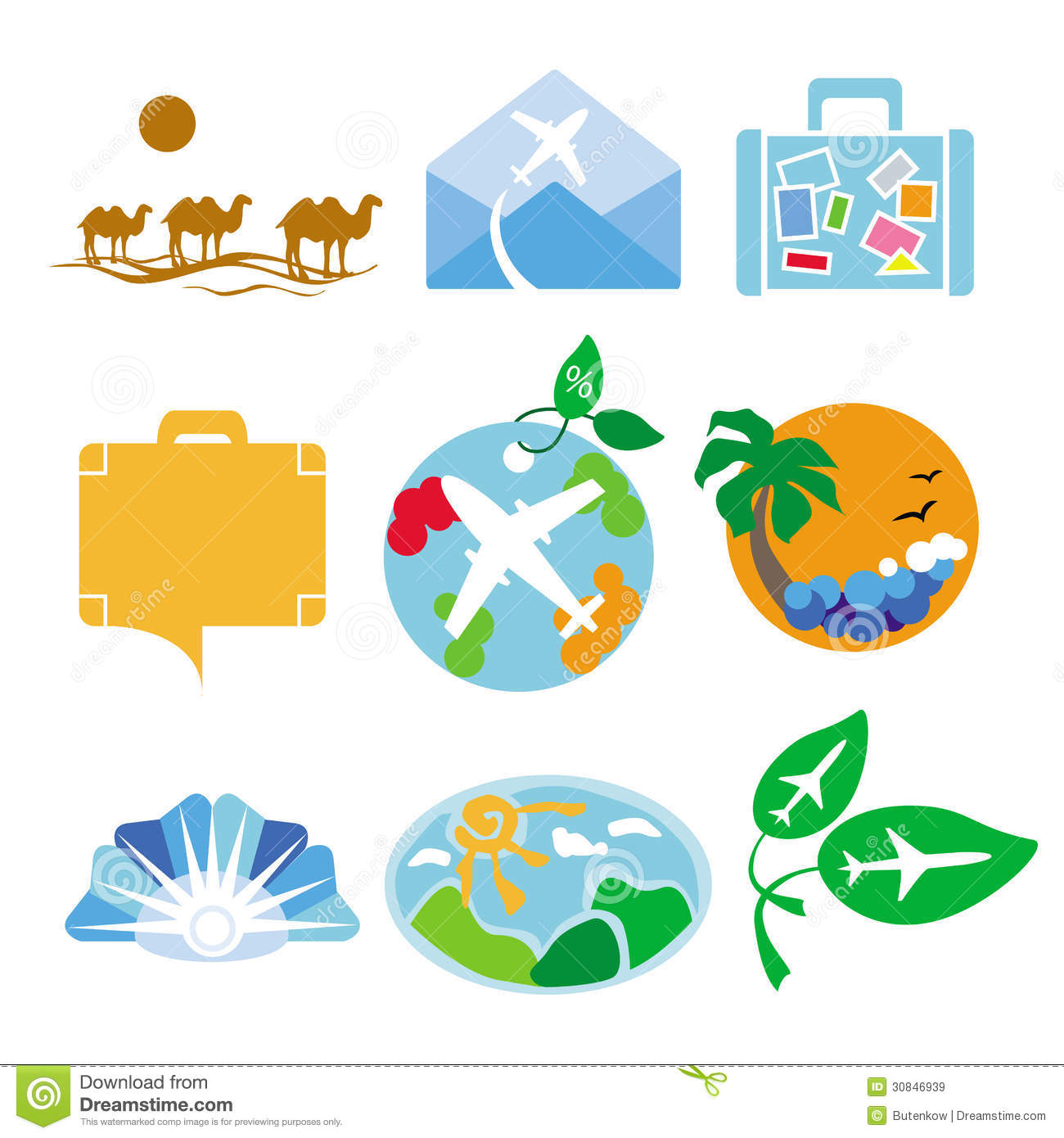 Vector Logos For Travel Agencies Royalty Free Stock Images - Image ...