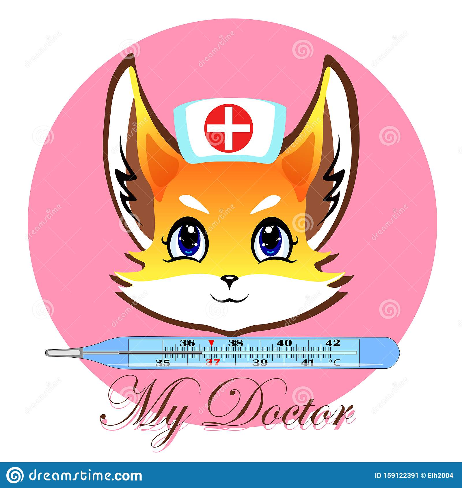 Vector logotype of medical service for children hospitals and advertisement