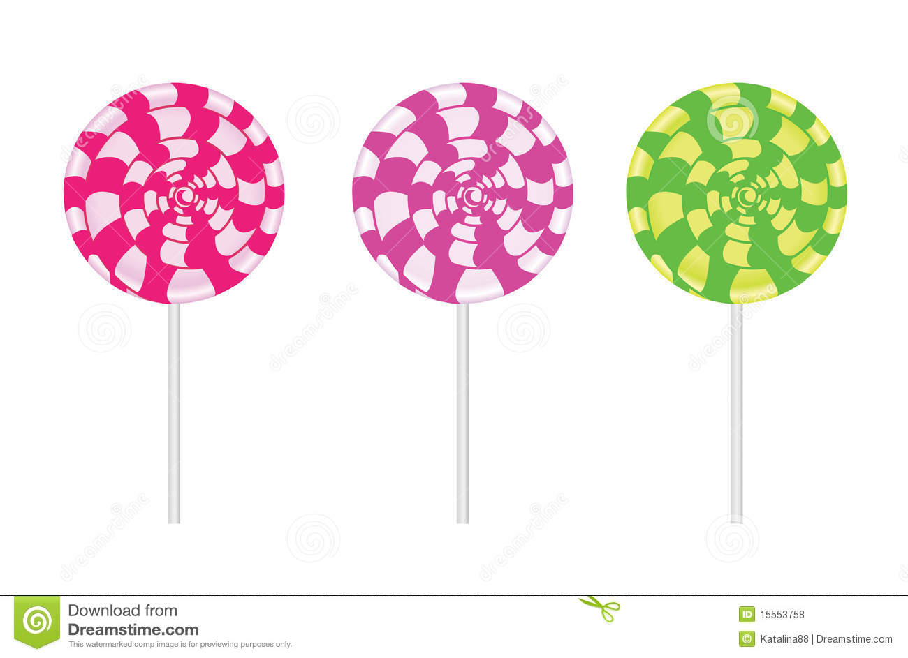 Vector Lollipop Royalty Free Stock Photos - Image: 15553758