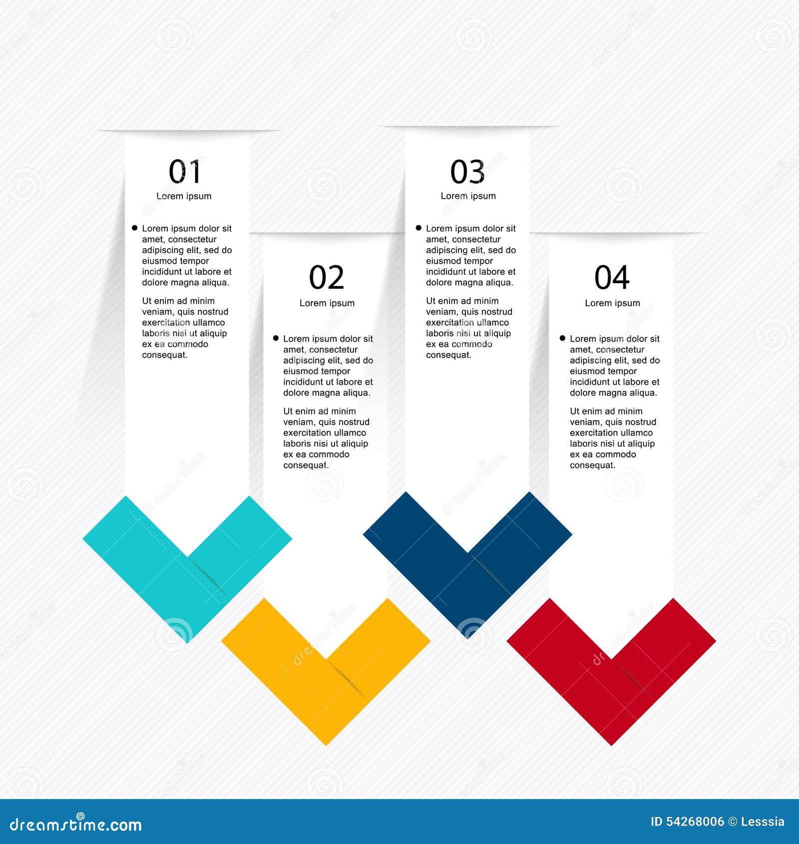 Vector los gráficos coloridos de la información para sus presentaciones del negocio