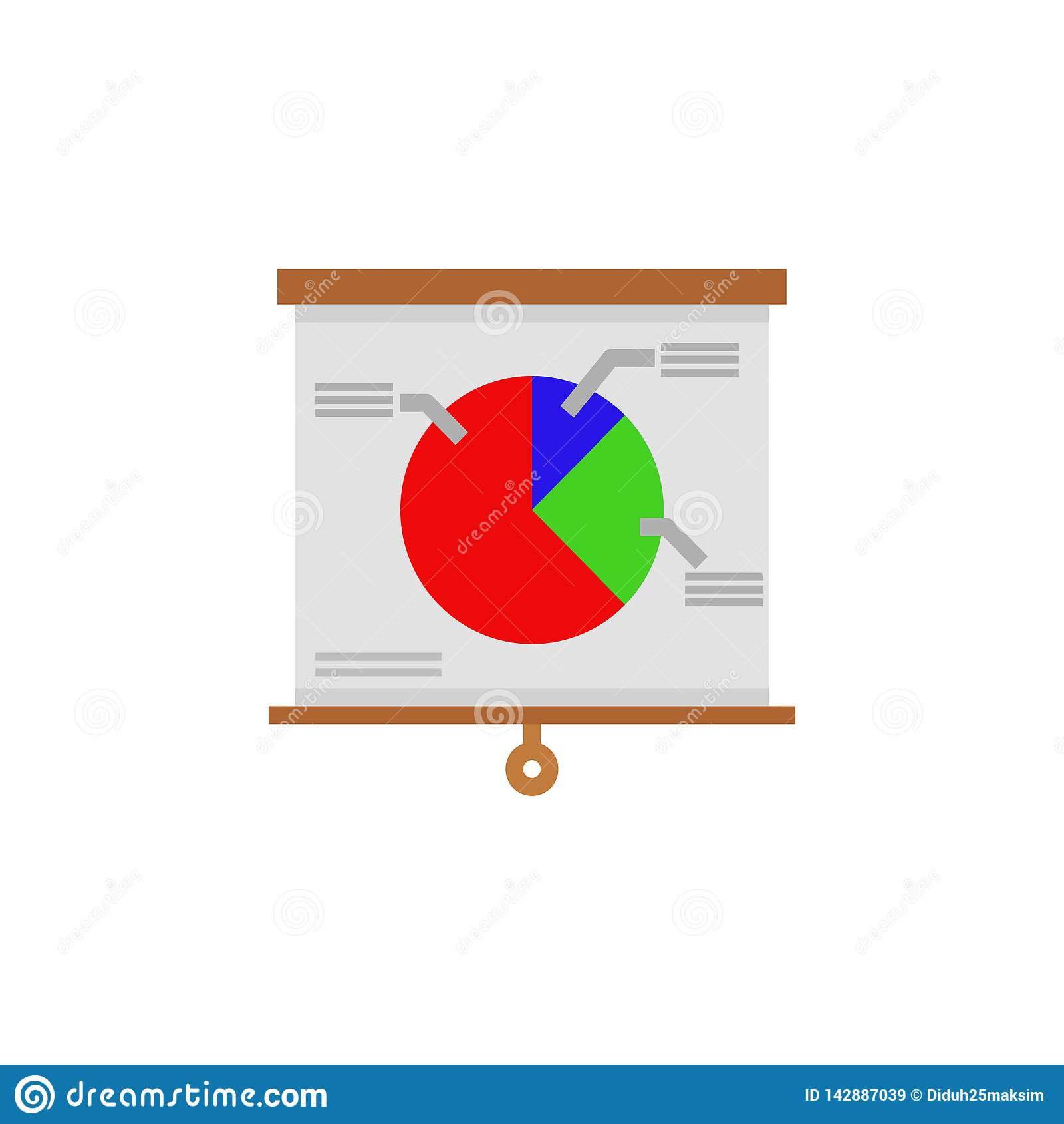 Vector los gr?ficos coloridos de la informaci?n para sus presentaciones del negocio Se pueden utilizar para la disposici?n de la