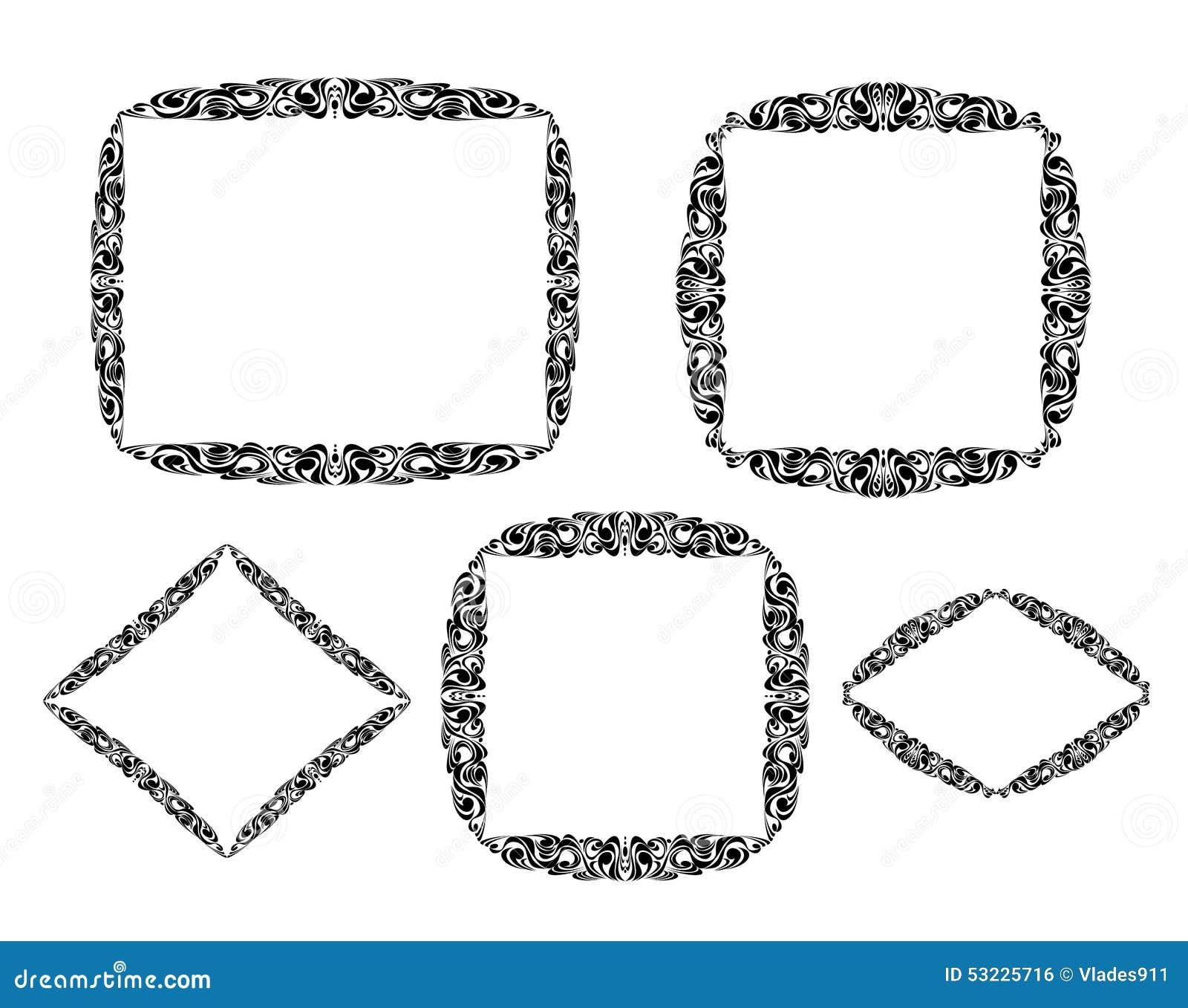 Vector los marcos decorativos