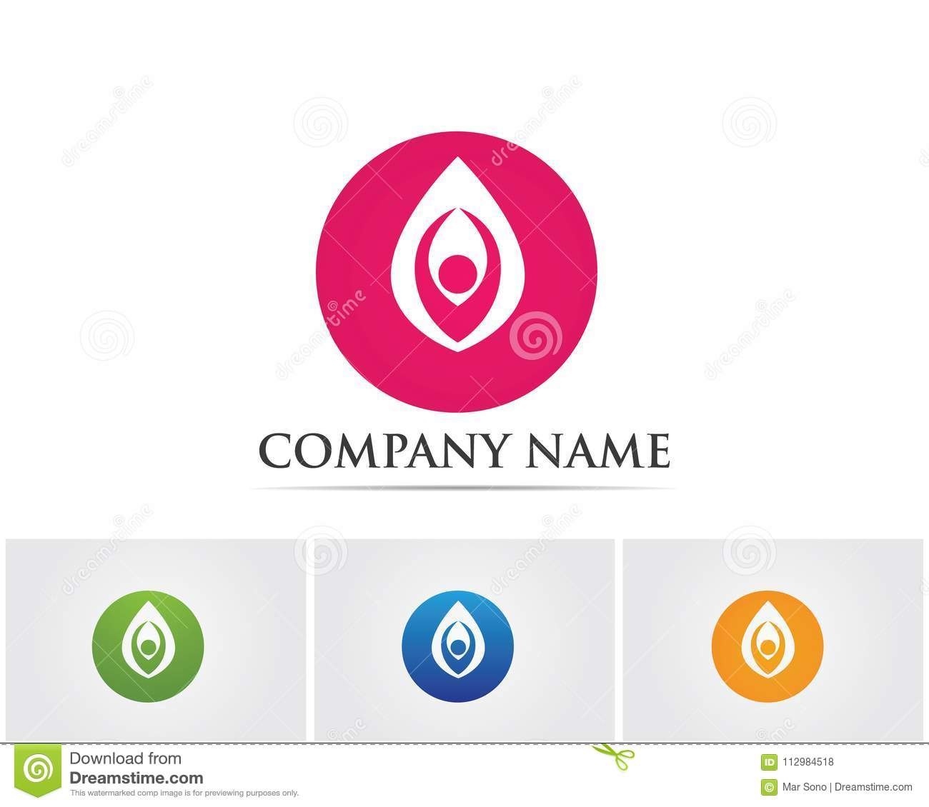 Vector - Lotus Flower Sign for Wellness, Spa and Yoga. Vector Il