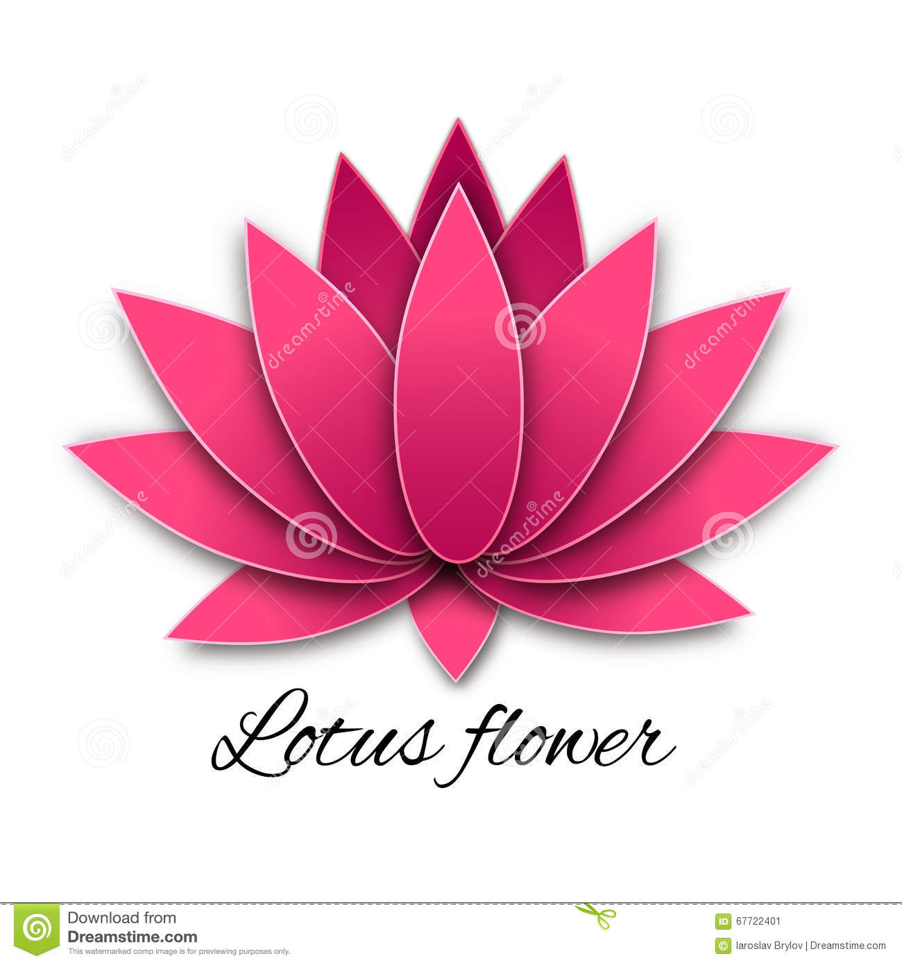 Vector Lotus Flower Symbol Stock Vector Image