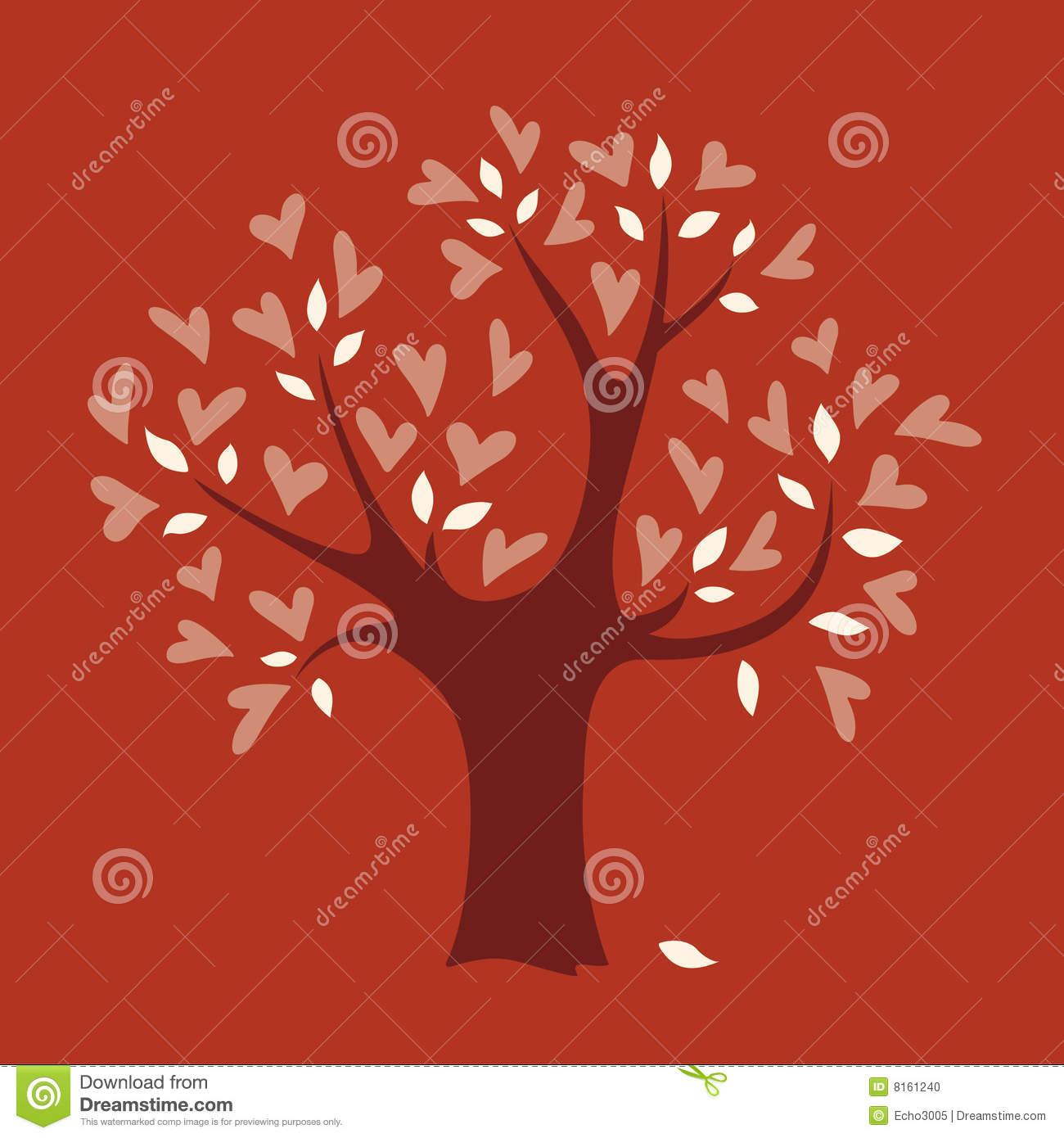 Vector Love Tree Stock Photo - Image: 8161240
