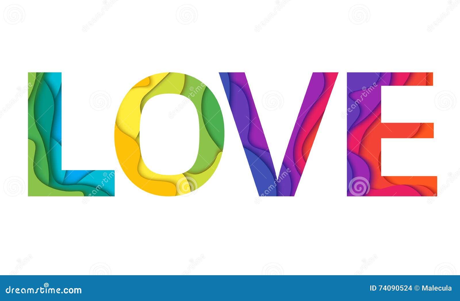 Vector Love Word Royalty Free Vector Download