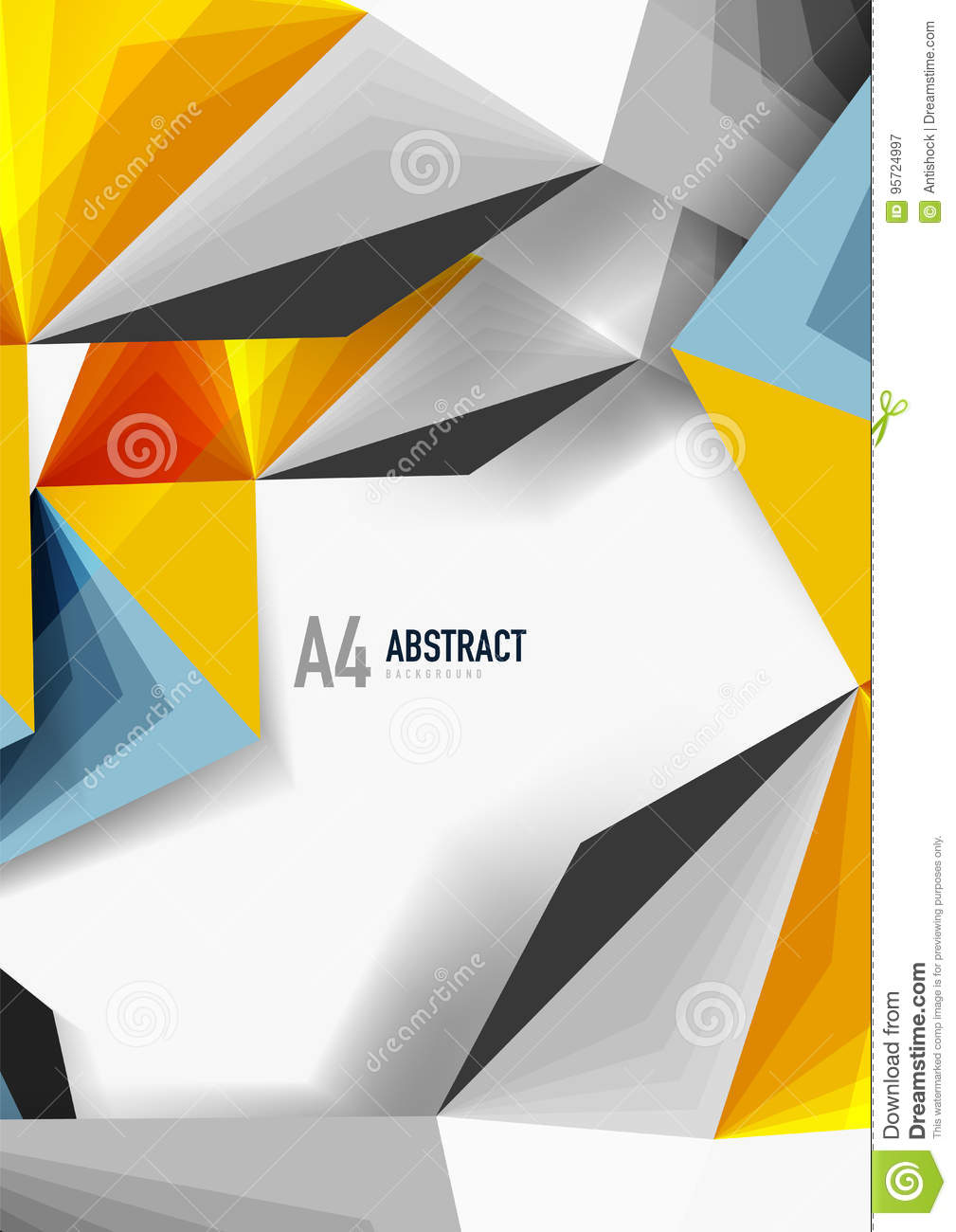 vector low poly style 3d triangle line stock vector illustration
