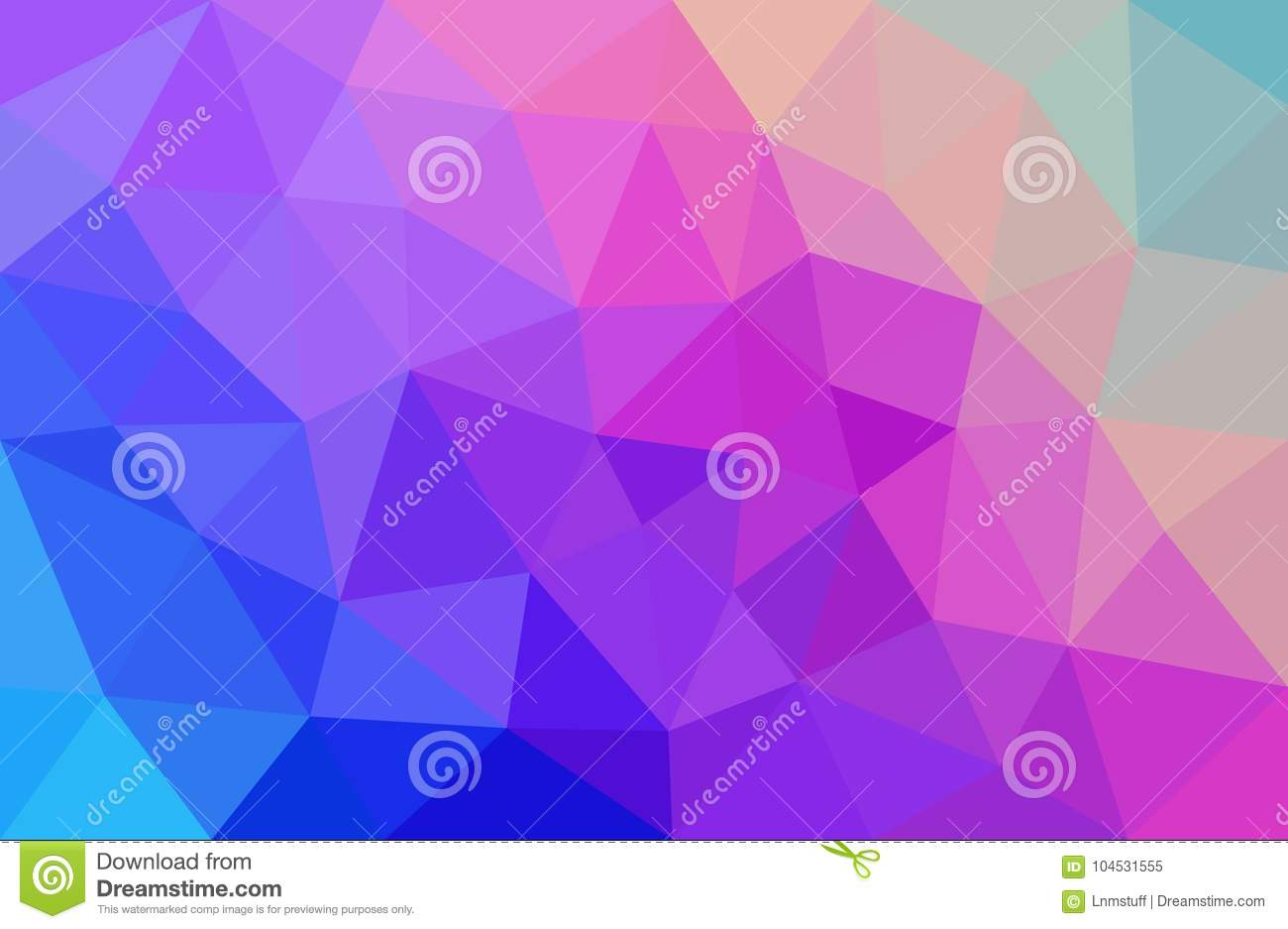 Pink And Blue Abstract Background Low Poly
