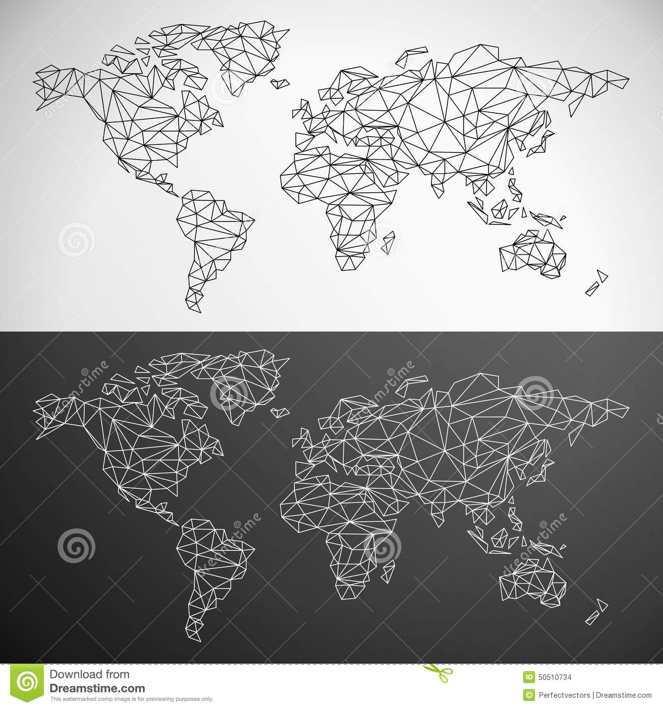 Vector low poly world map stock vector image of color 50510734 vector low poly world map gumiabroncs Images