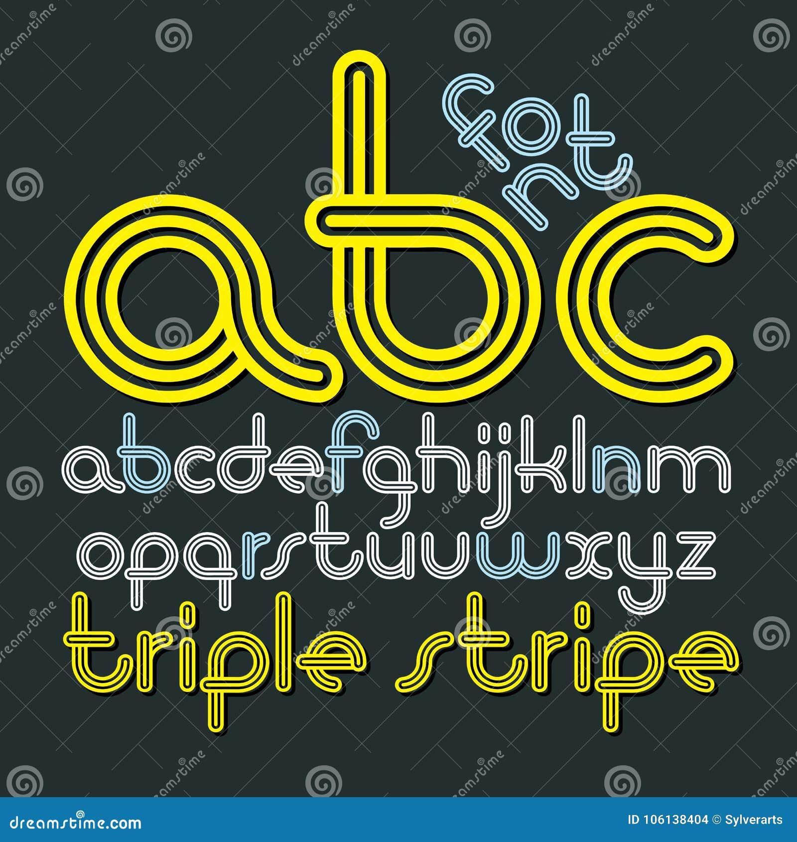 Abc Creation dedans vector lowercase funky disco alphabet letters, abc set. trendy f