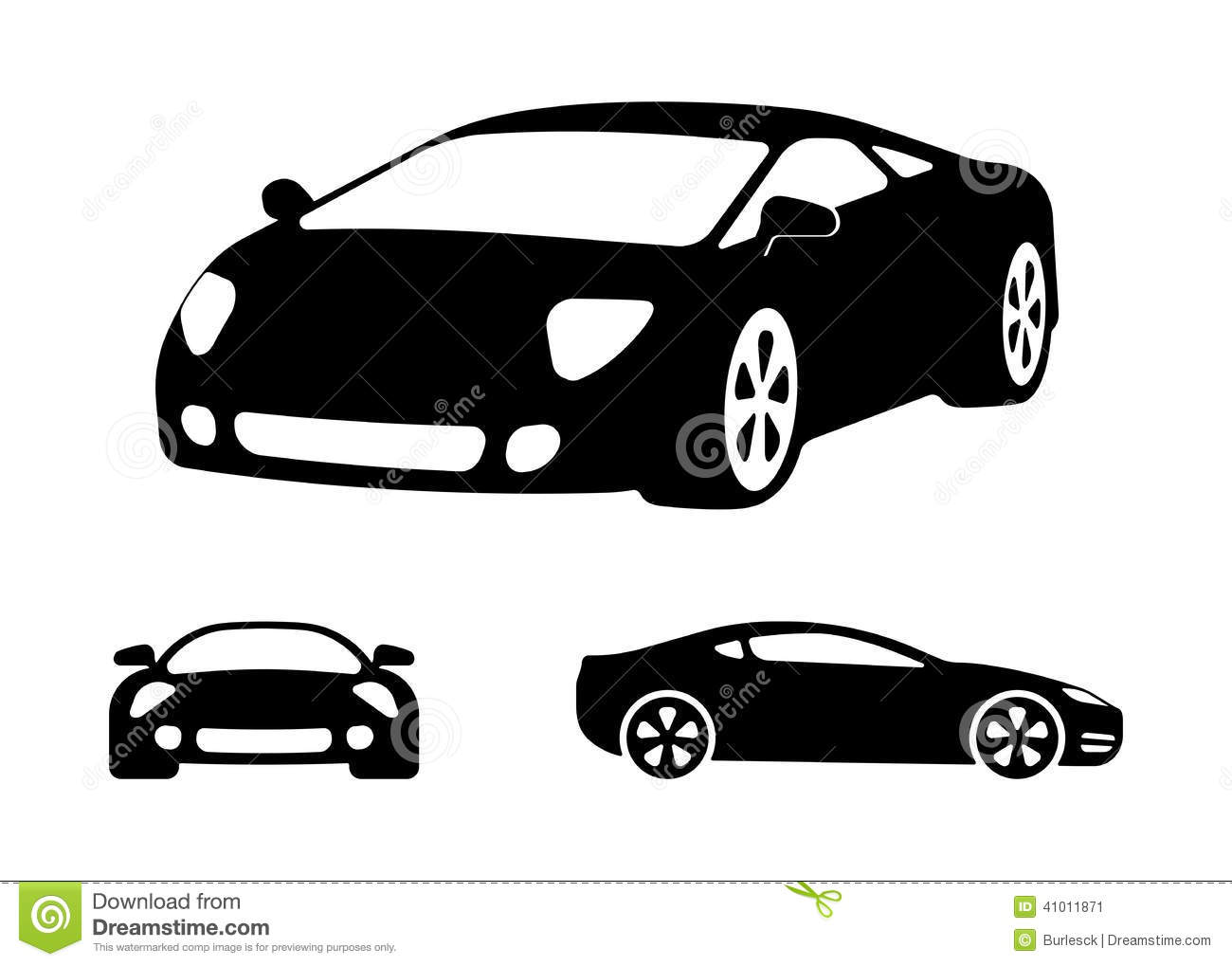 Sports car silhouette vector 7