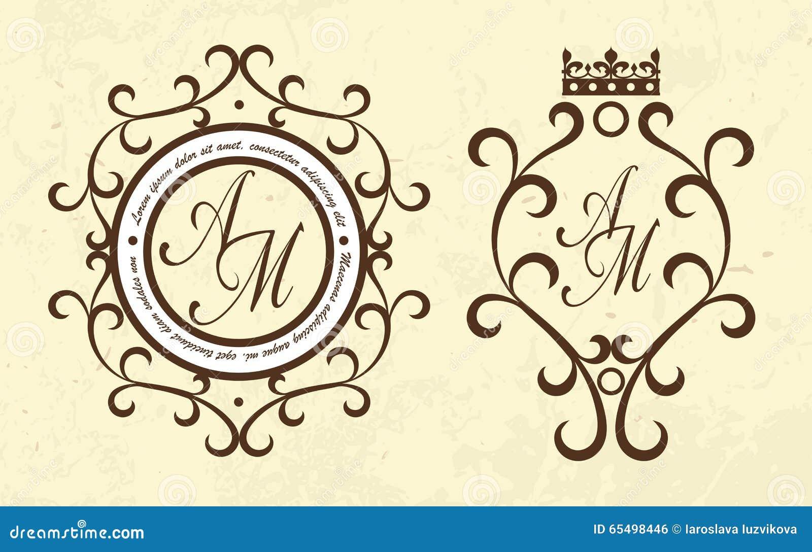 Vector Luxury Elegant Monogram Logo Template Set Stock Vector ...