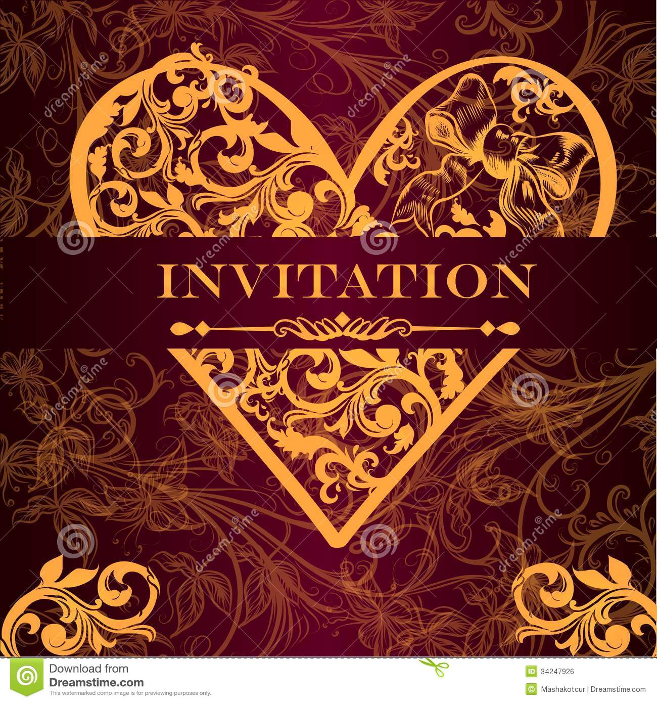 Vector Luxury Royal Invitation Card For Design Stock Vector ...