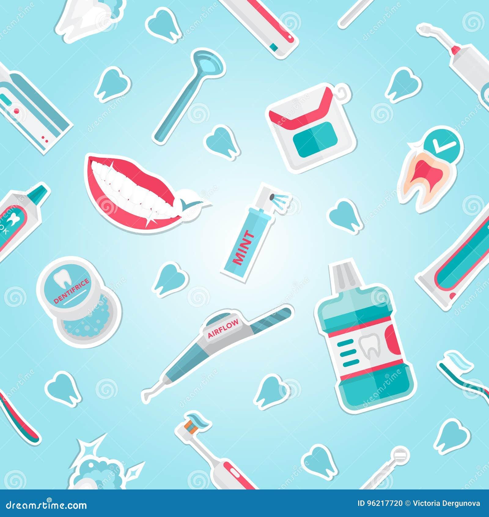 Vector médico del modelo de la higiene de los dientes