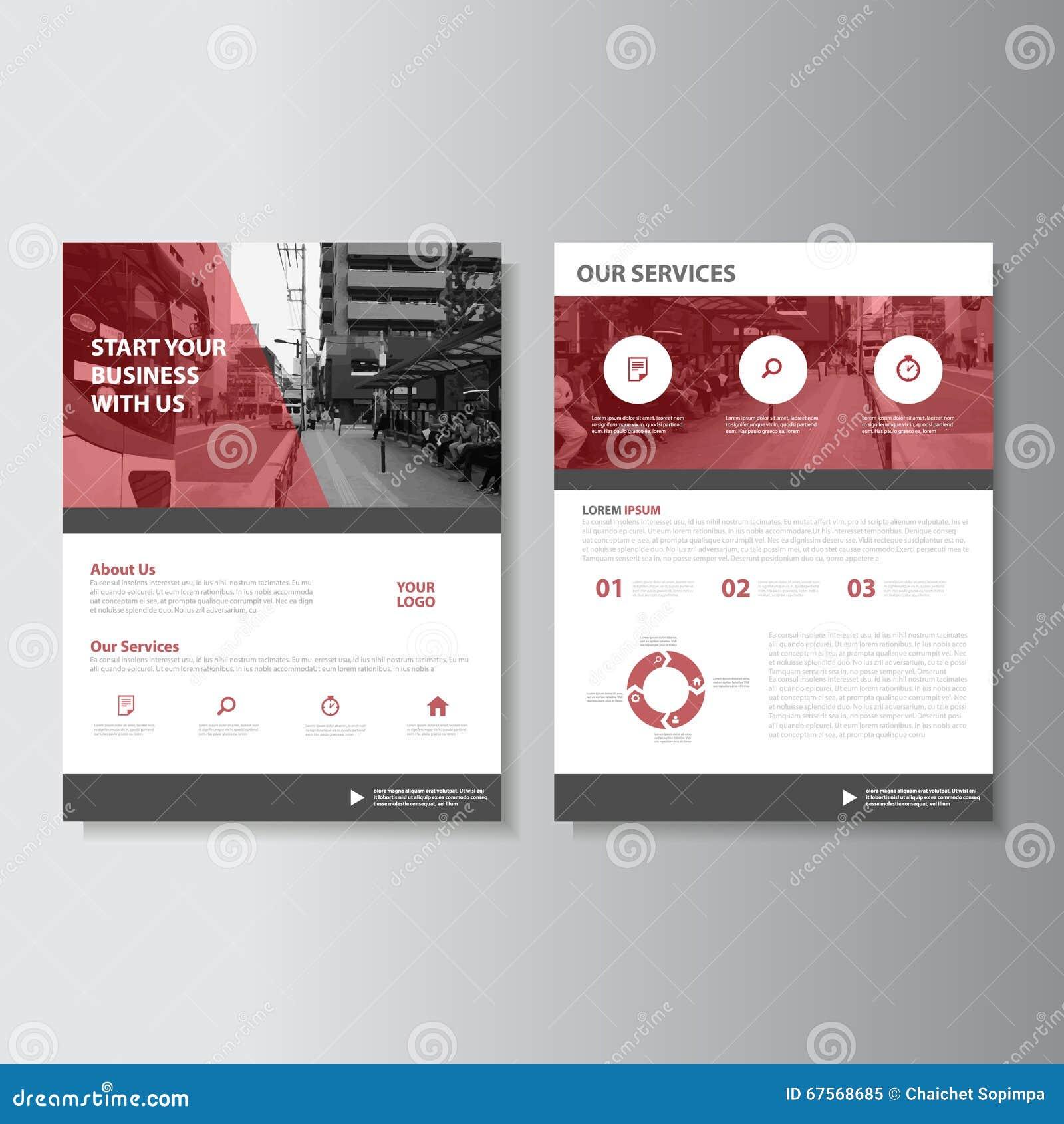 vector magazine annual report leaflet brochure flyer template design