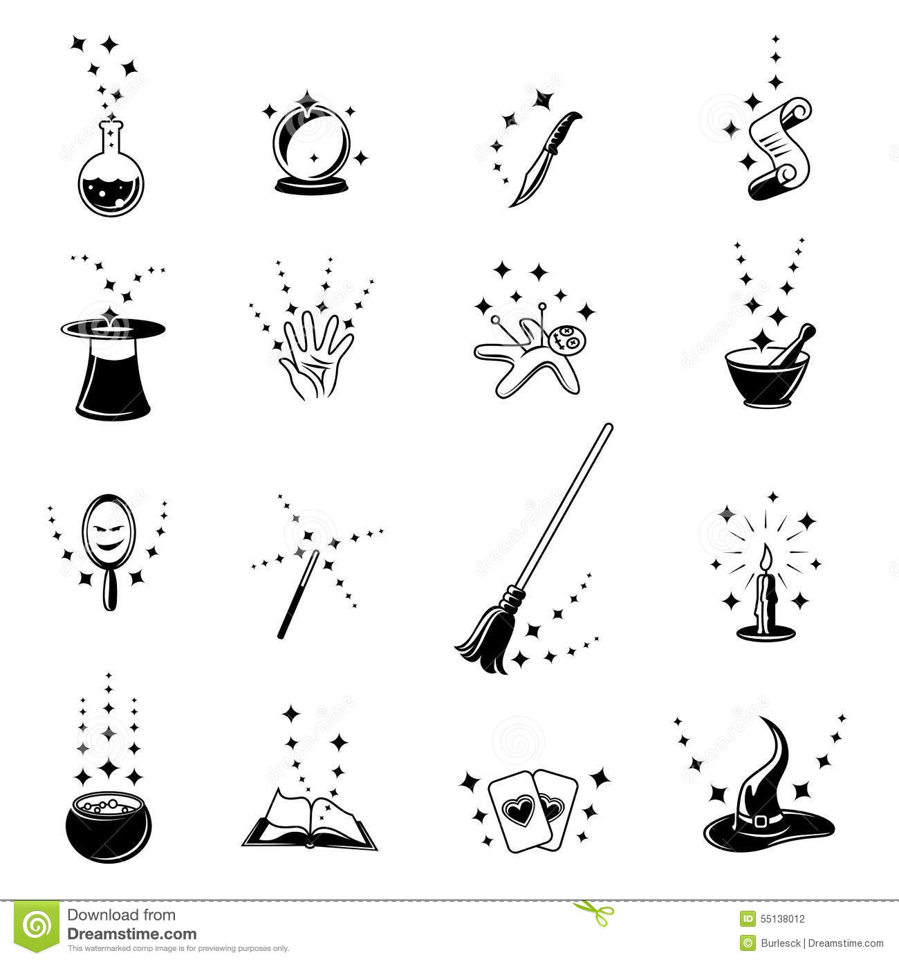 Vector magic icons set stock vector. Image of fantasy ...