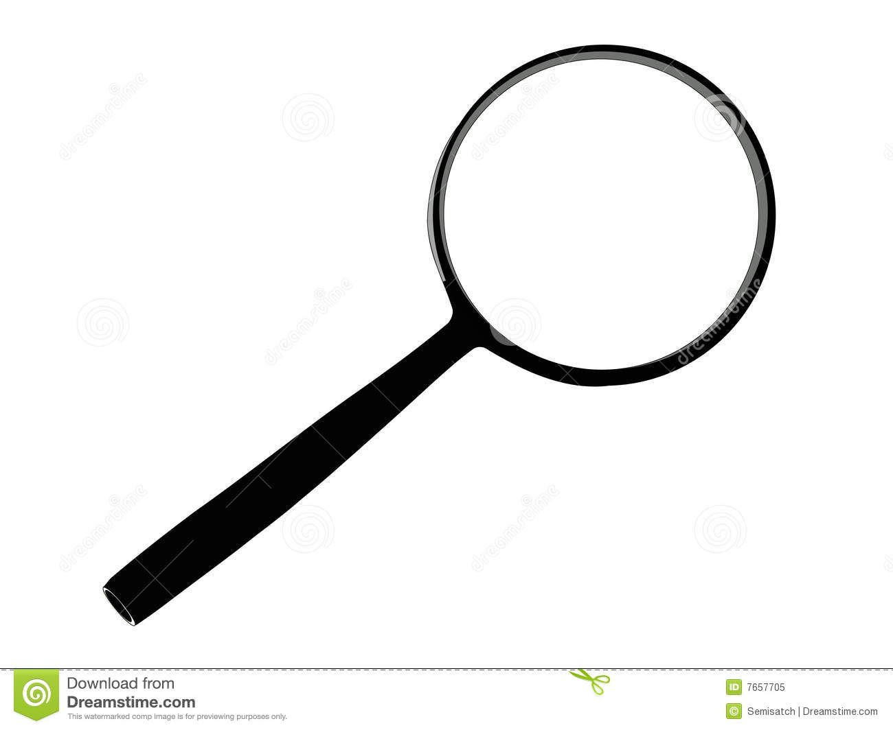 Vector Magnifying Glass Royalty Free Stock Photo - Image: 7657705