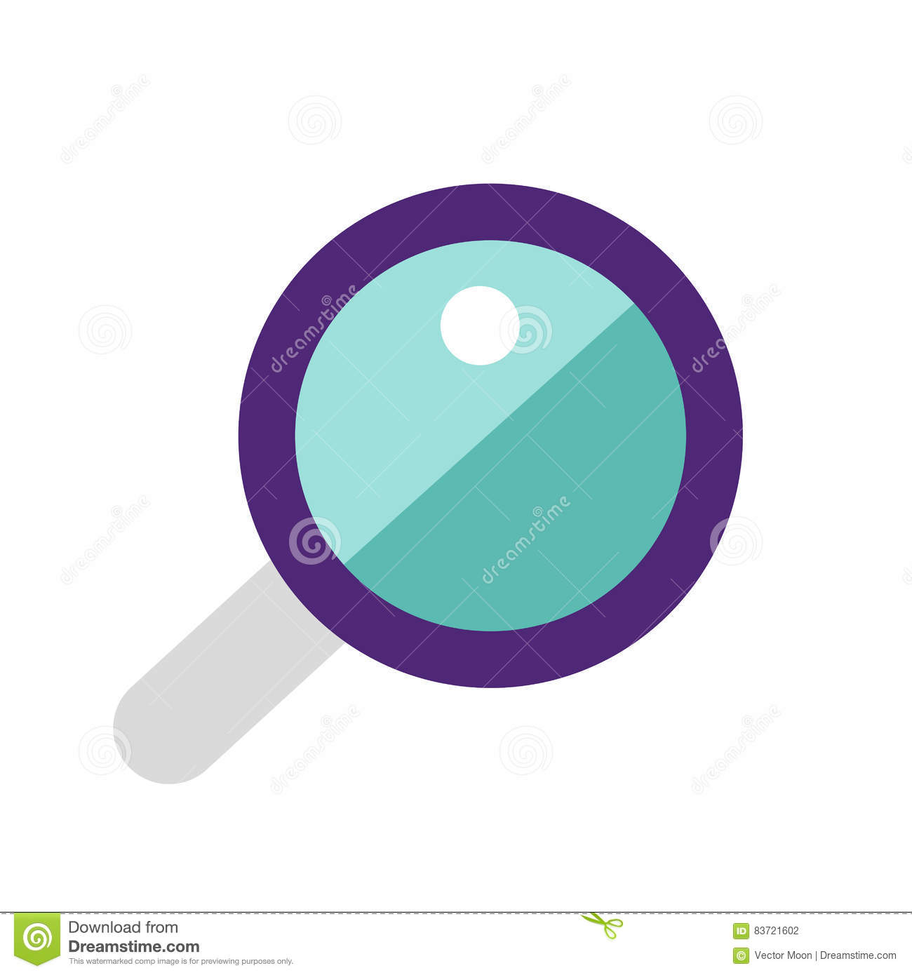 Vector Magnifying Glass. Stock Vector