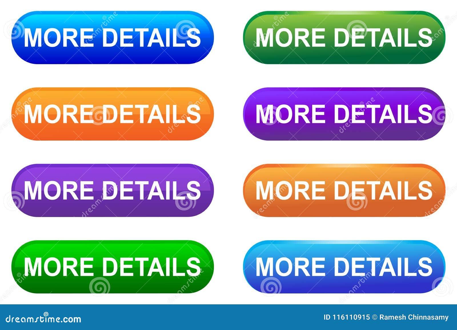 Vector mais botão da Web dos detalhes
