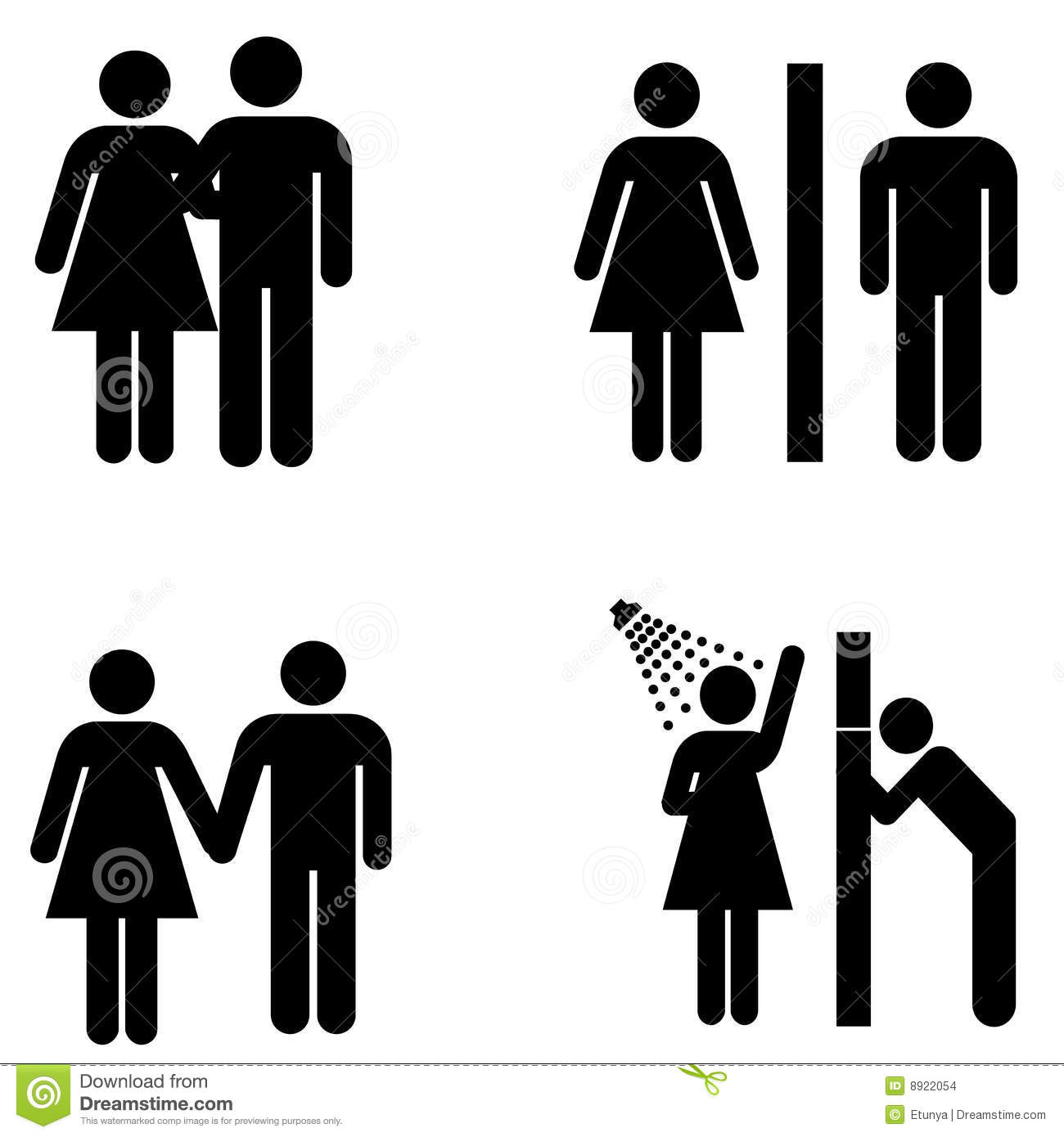 Mens womens bathroom signs - Vector Male And Female Signs Stock Vector Image 8922054