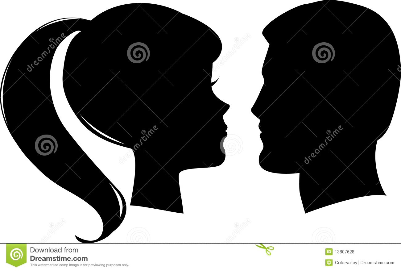 Vector Man And Woman Profiles Stock Vector Image 13807628