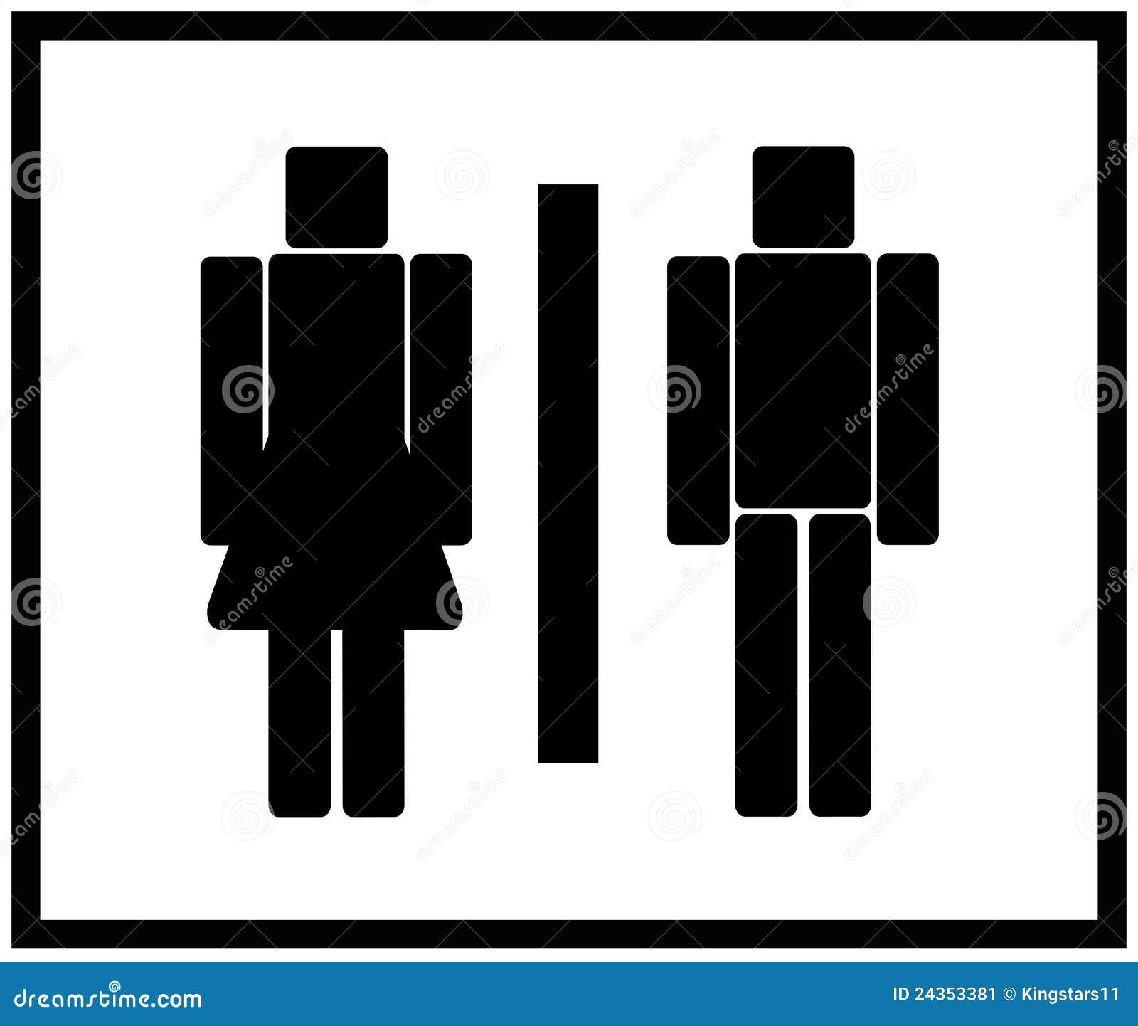 bathroom sign vector. Vector Man \u0026 Woman Restroom Sign Bathroom