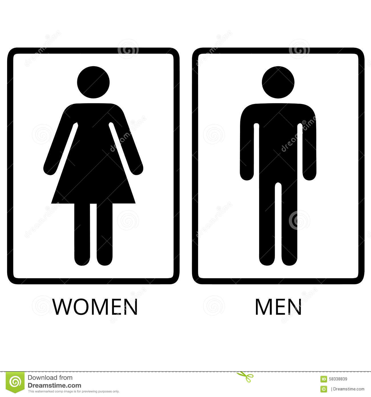 Vector Man And Woman Restroom Stock Illustration
