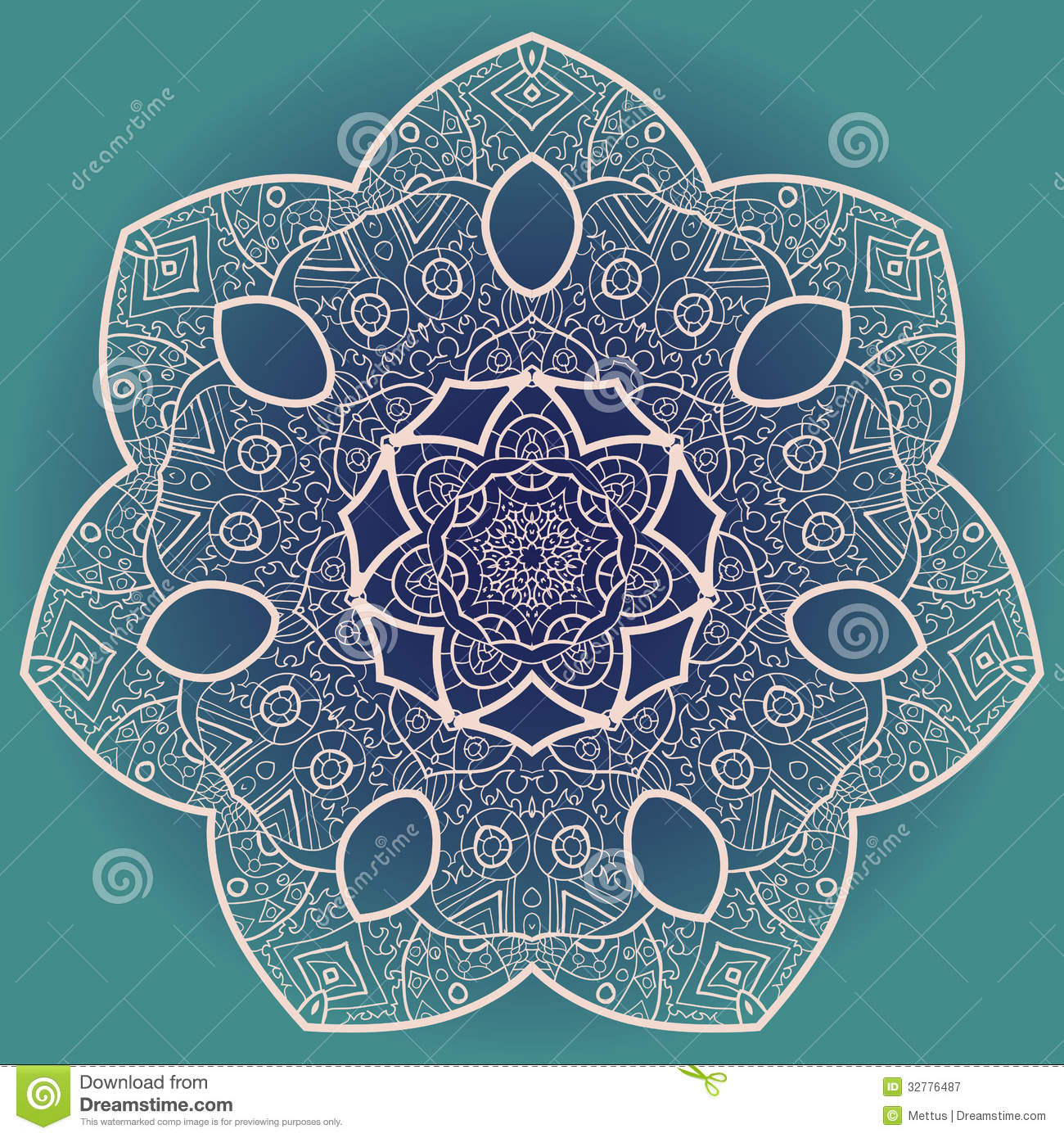 Vector mandala stock vector image of handmade chinese for Architecture orientale