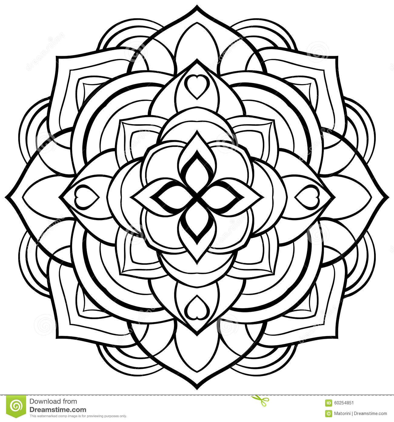 Vector Mandala For Coloring Book Stock Vector