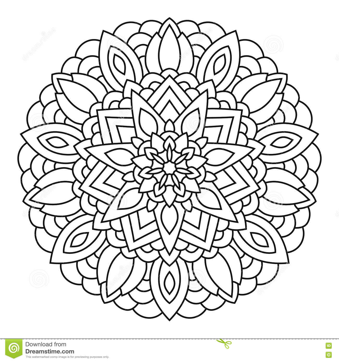 Galerry nature mandala coloring pages