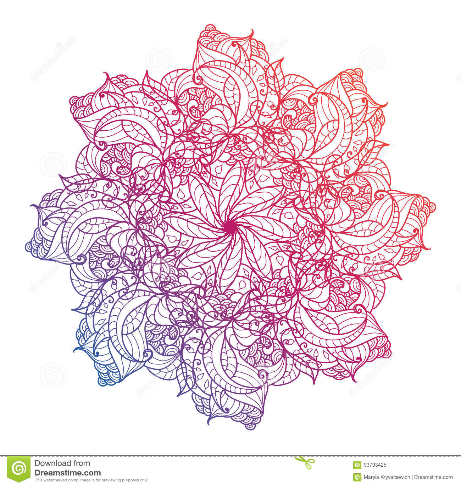Vector Mandala, Floral, Flower, Oriental Circle Pattern. Islam ...