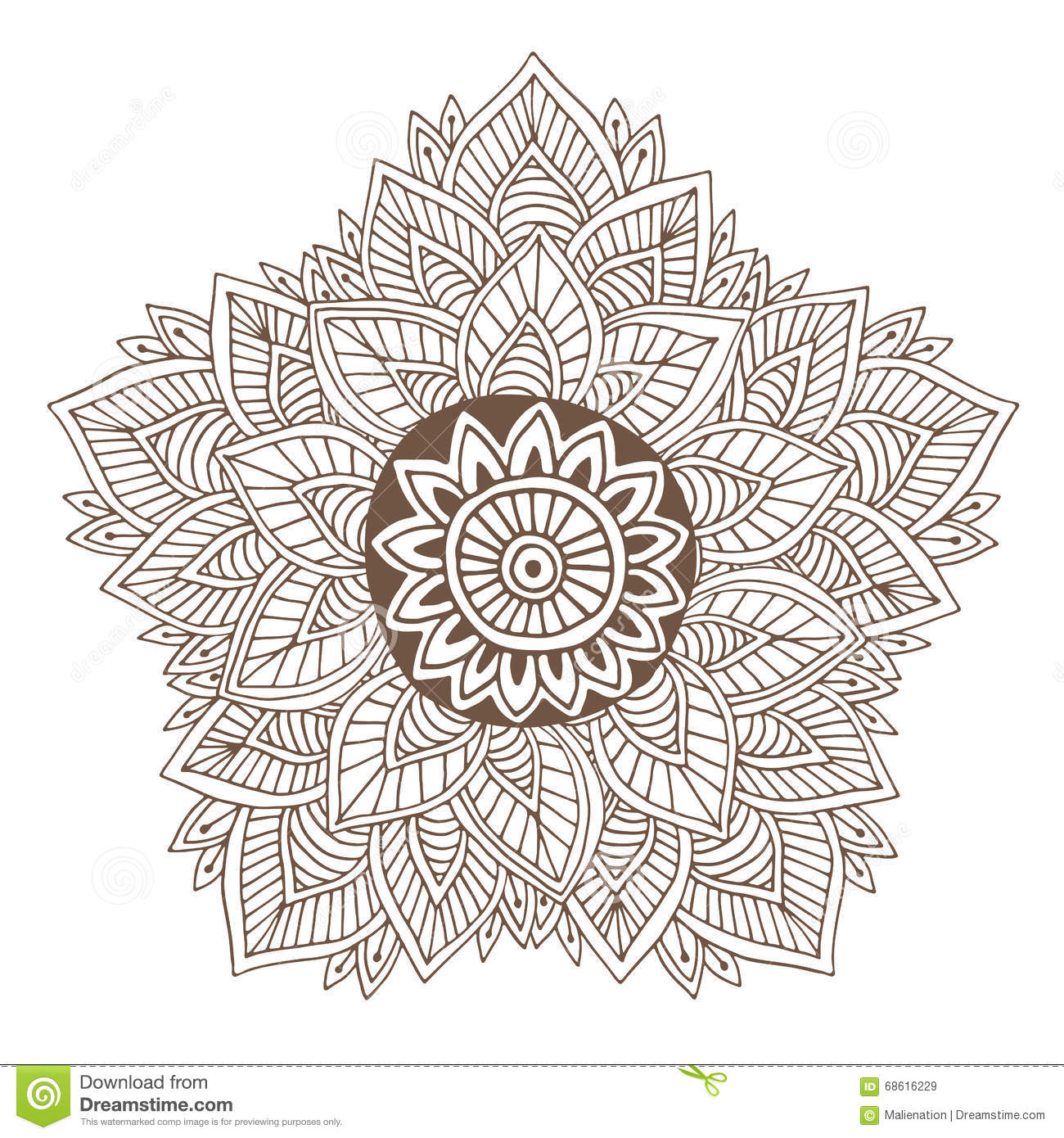 Tattoo designs coloring book - Vector Mandala Or Henna Tattoo Design Ornamental Round For Coloring Book Pages Or Packging Design