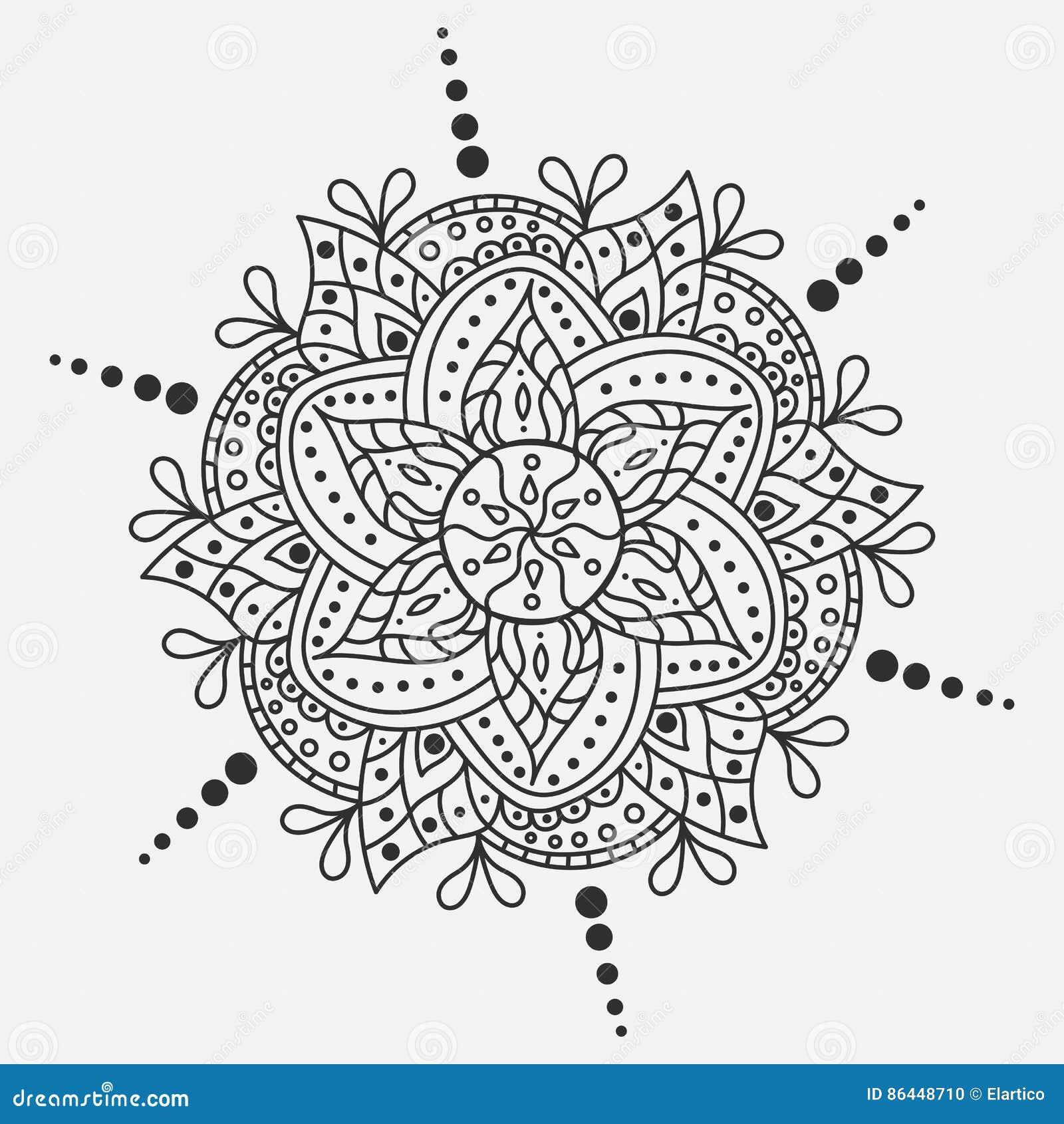 vector mandala round ornament traditional indian symbol graphic