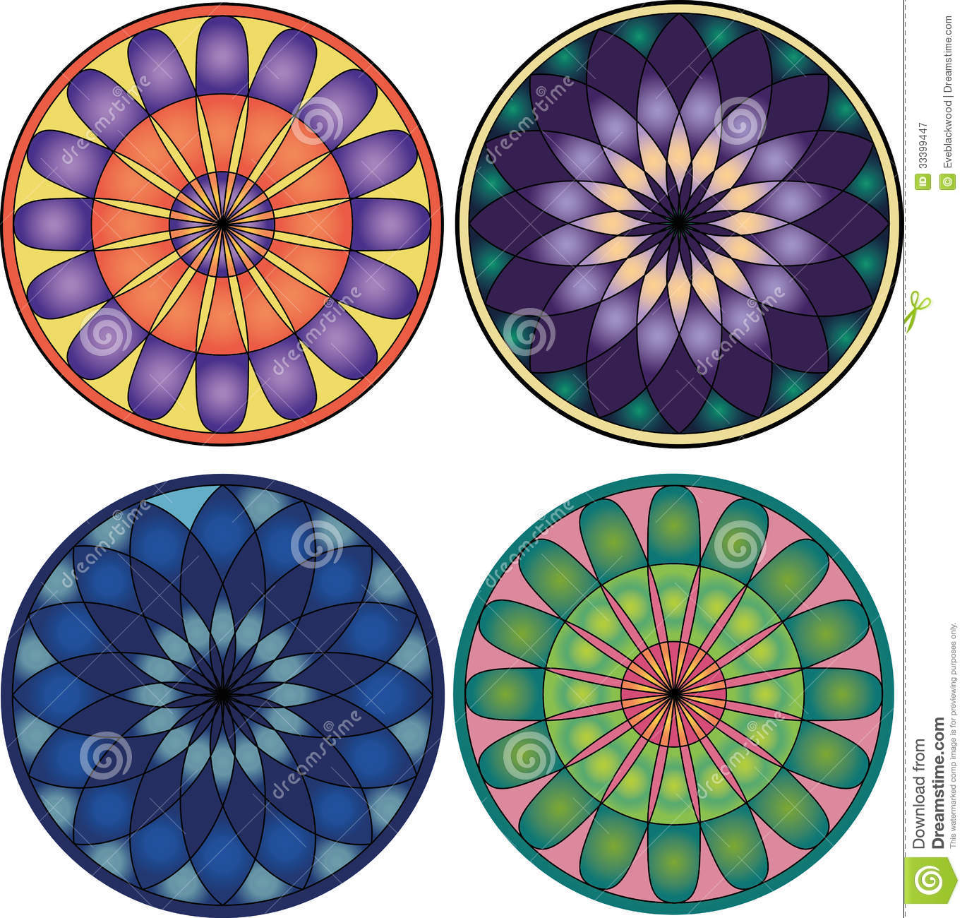 Vector mandala set stock vector. Image of backgrounds ...